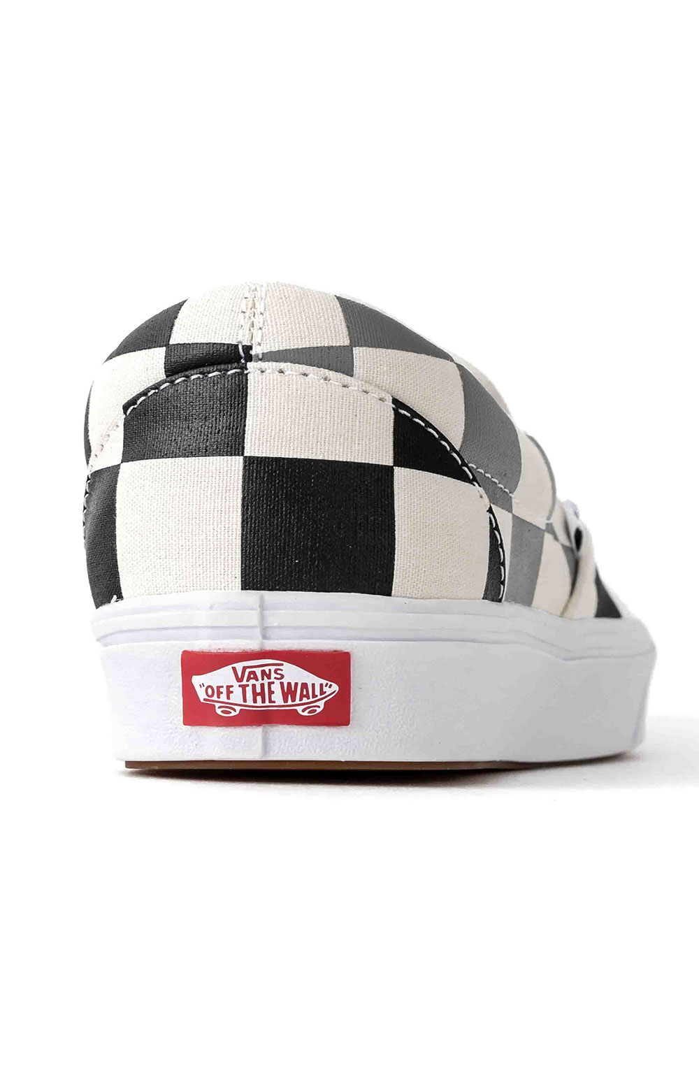 (WMDWXA) Half Big Checker ComfyCush Slip-On Shoe - Black/Grey 2