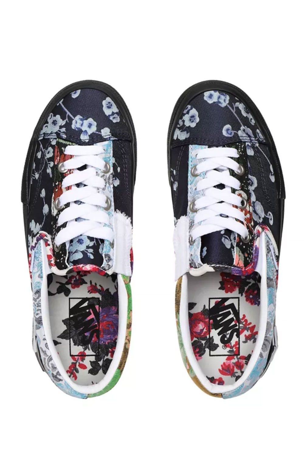 (WM5XHQ) Florals Classic Slip-On Cap Shoe - Brocade  3