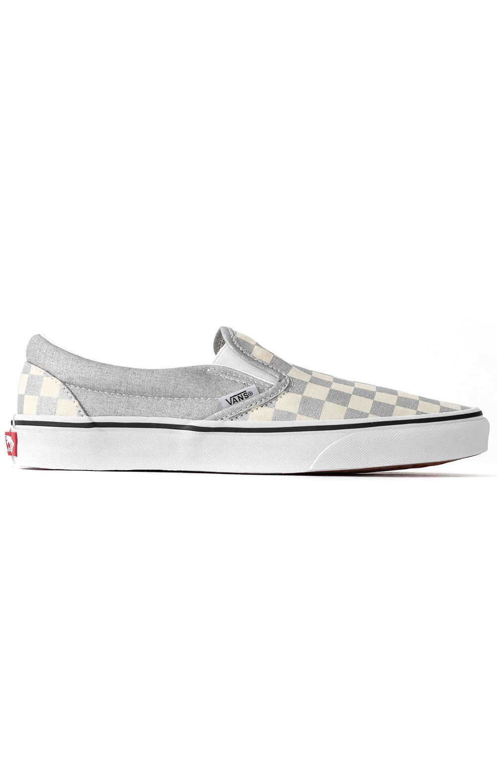 (U38WWS3) Checkerboard Classic Slip-On Shoe - Silver
