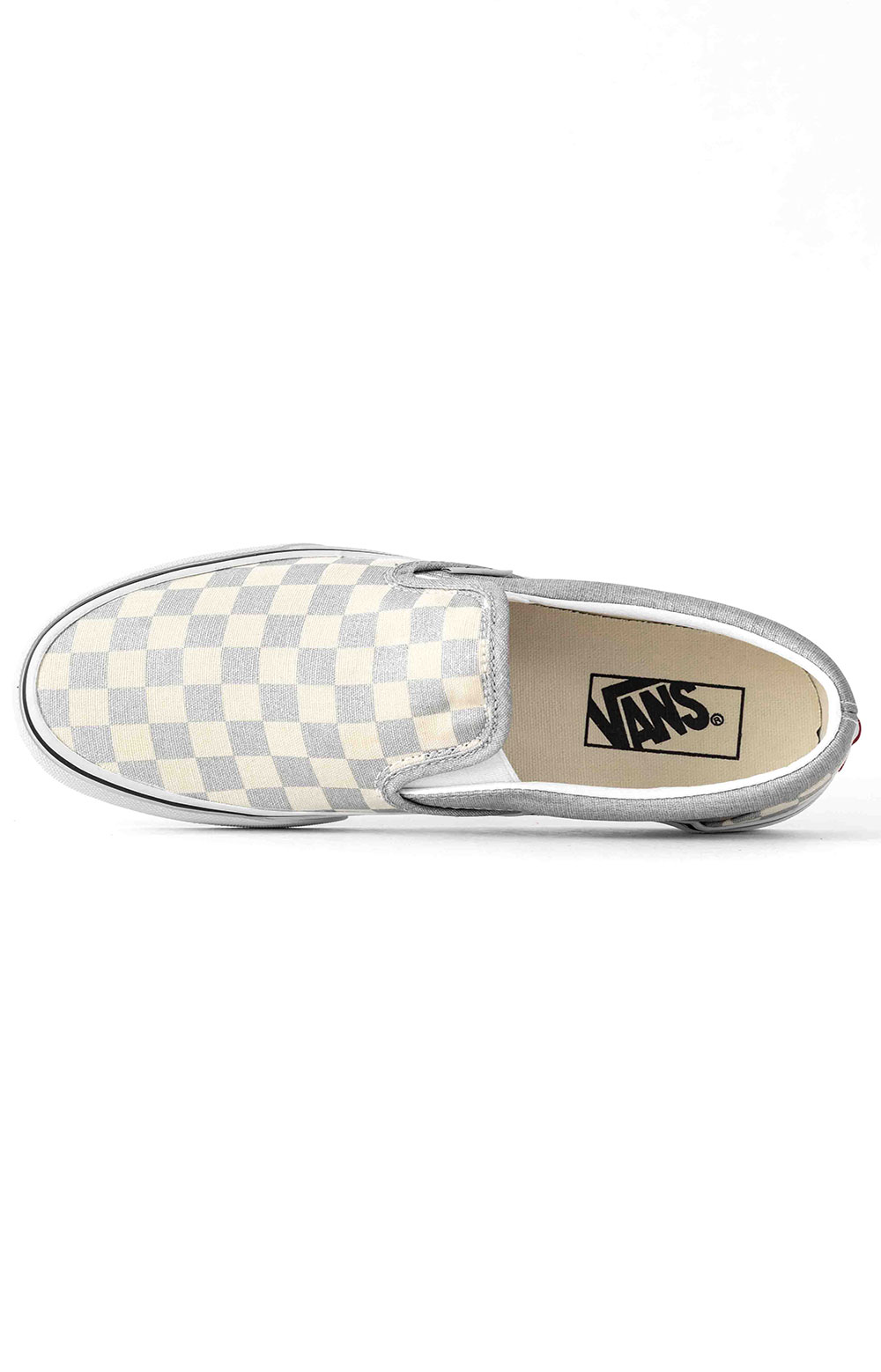 (U38WWS3) Checkerboard Classic Slip-On Shoe - Silver 2