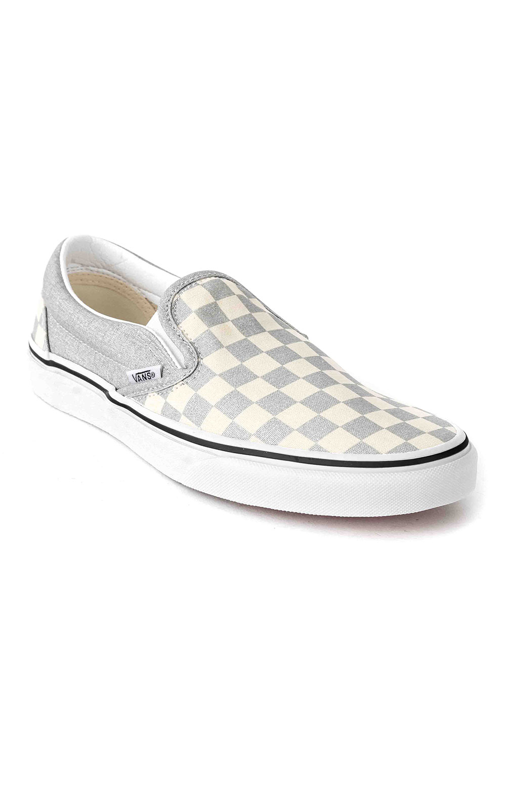 (U38WWS3) Checkerboard Classic Slip-On Shoe - Silver 3