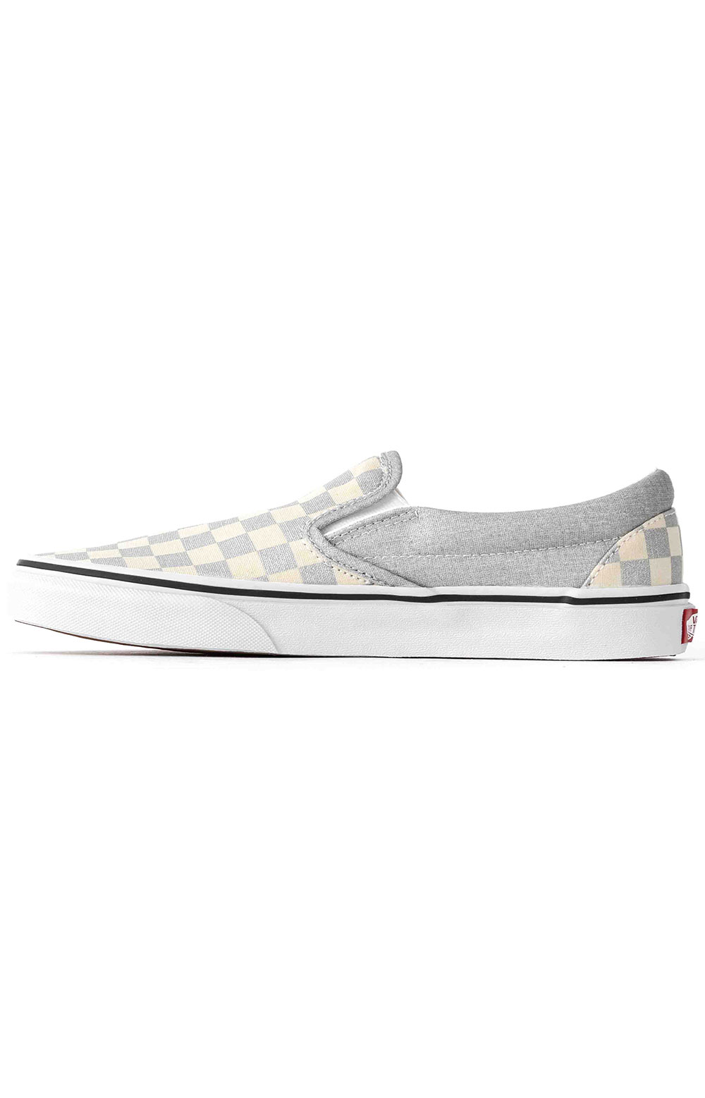 (U38WWS3) Checkerboard Classic Slip-On Shoe - Silver 4