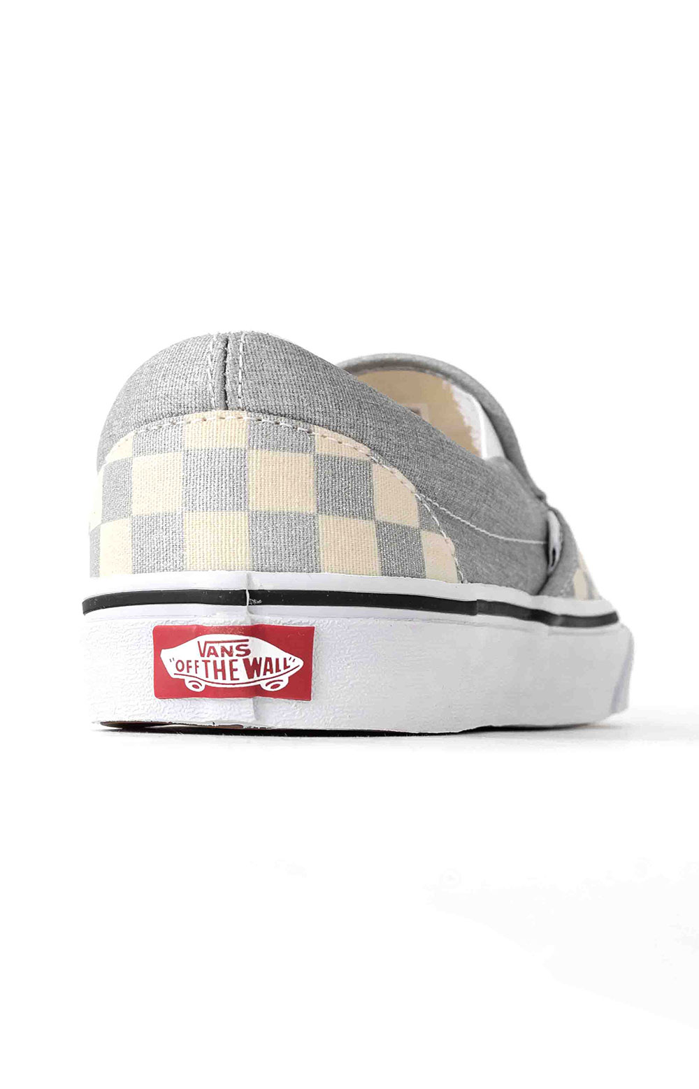(U38WWS3) Checkerboard Classic Slip-On Shoe - Silver 5