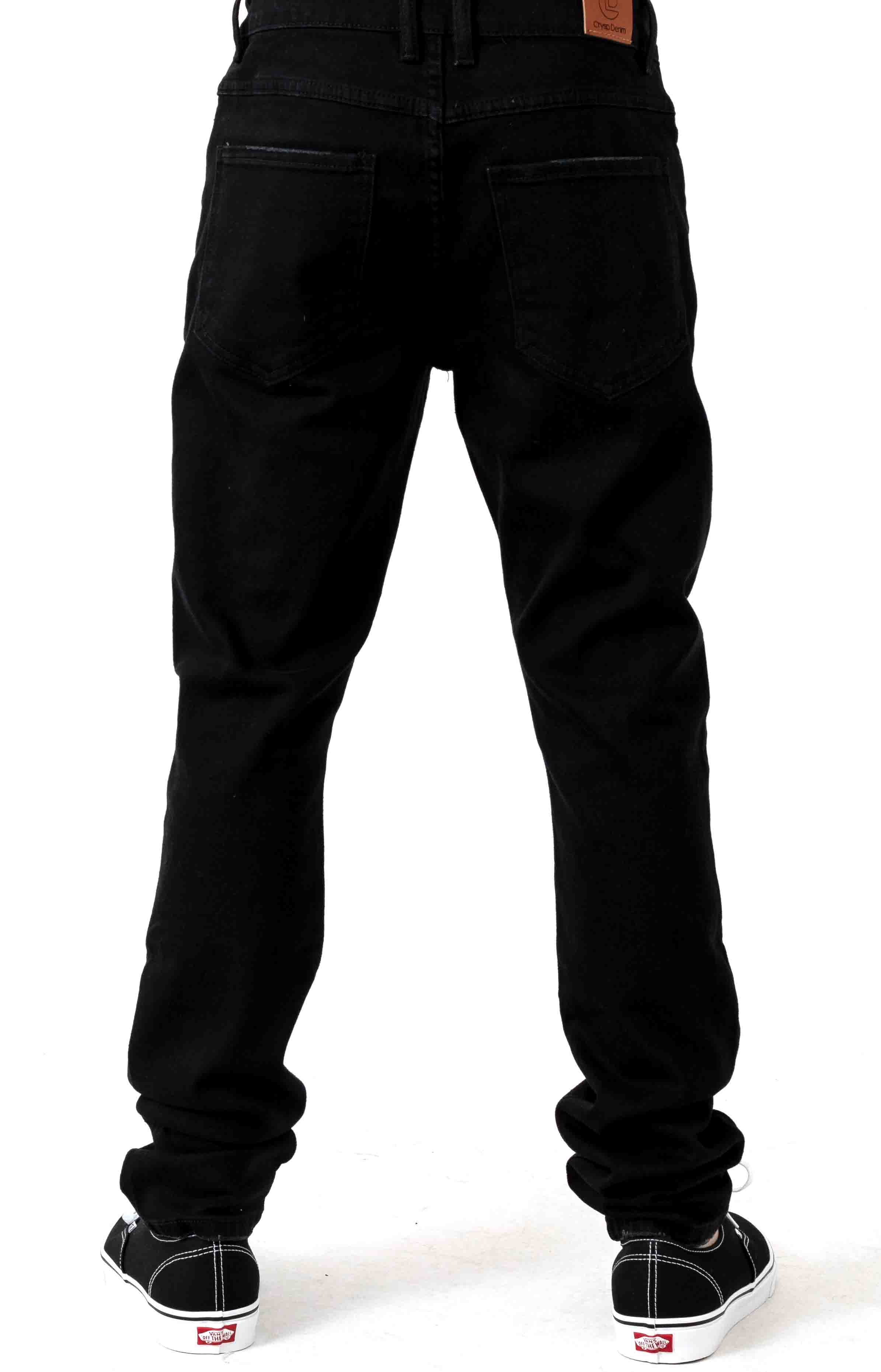 (CRYH19-140) Nowell Painted Denim Jeans - Black Painted 3