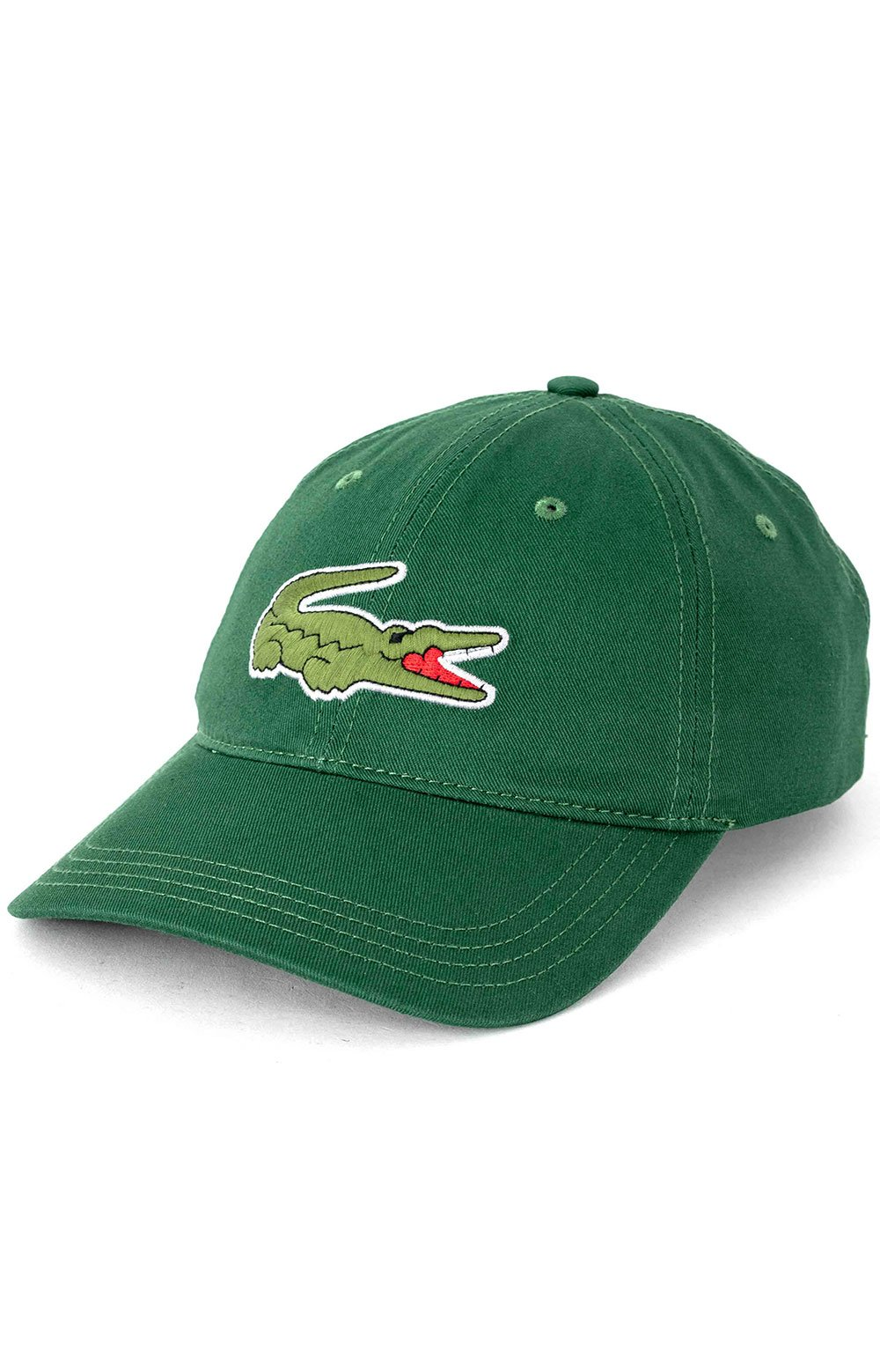 Big Croc Twill Leather Strap Cap - Green