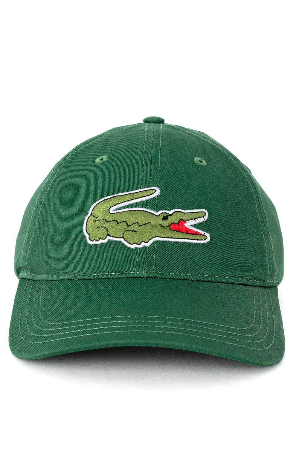 Big Croc Twill Leather Strap Cap - Green  2
