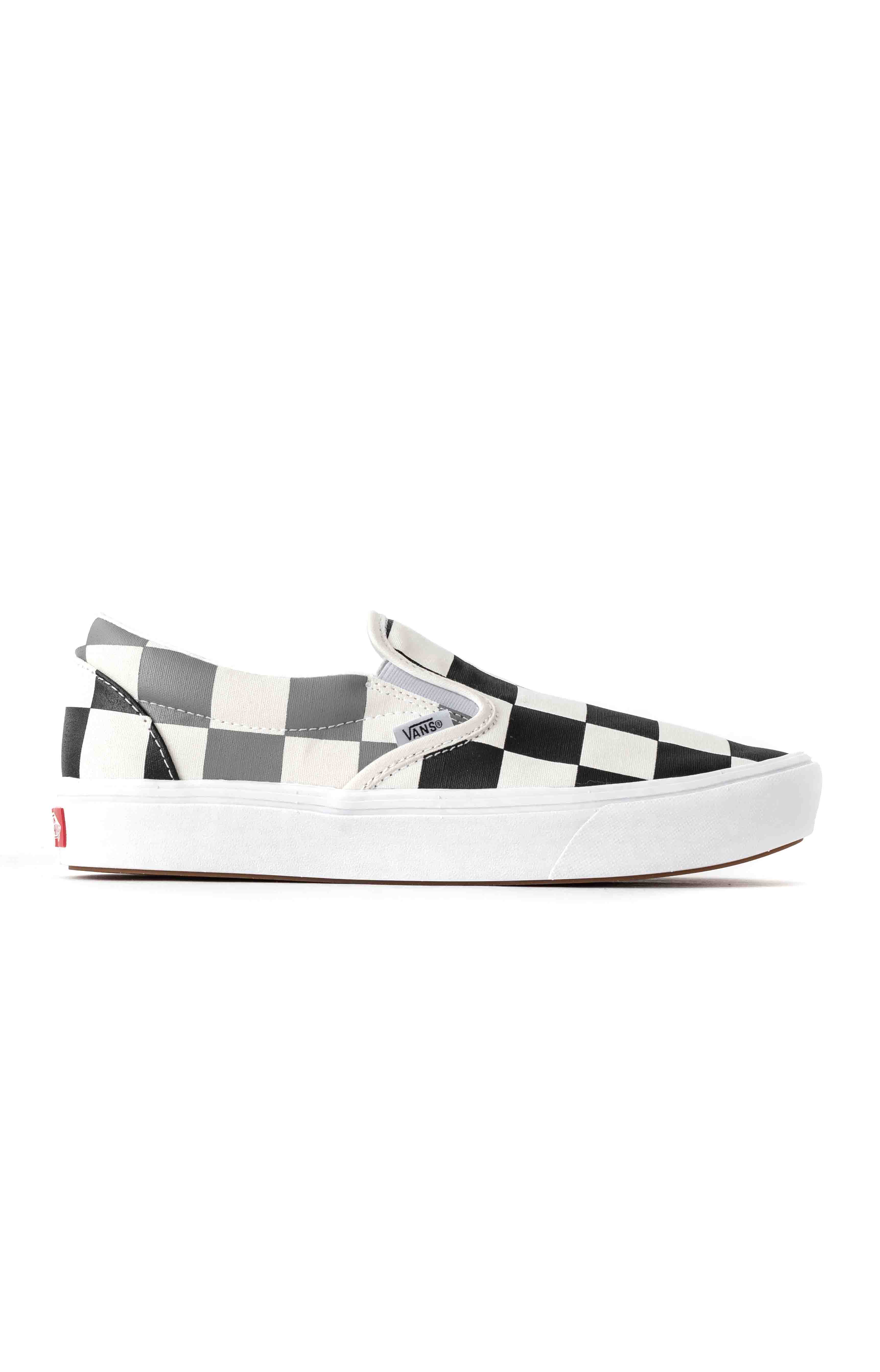(WMDWXA) Half Big Checker ComfyCush Slip-On Shoe - Black/Grey
