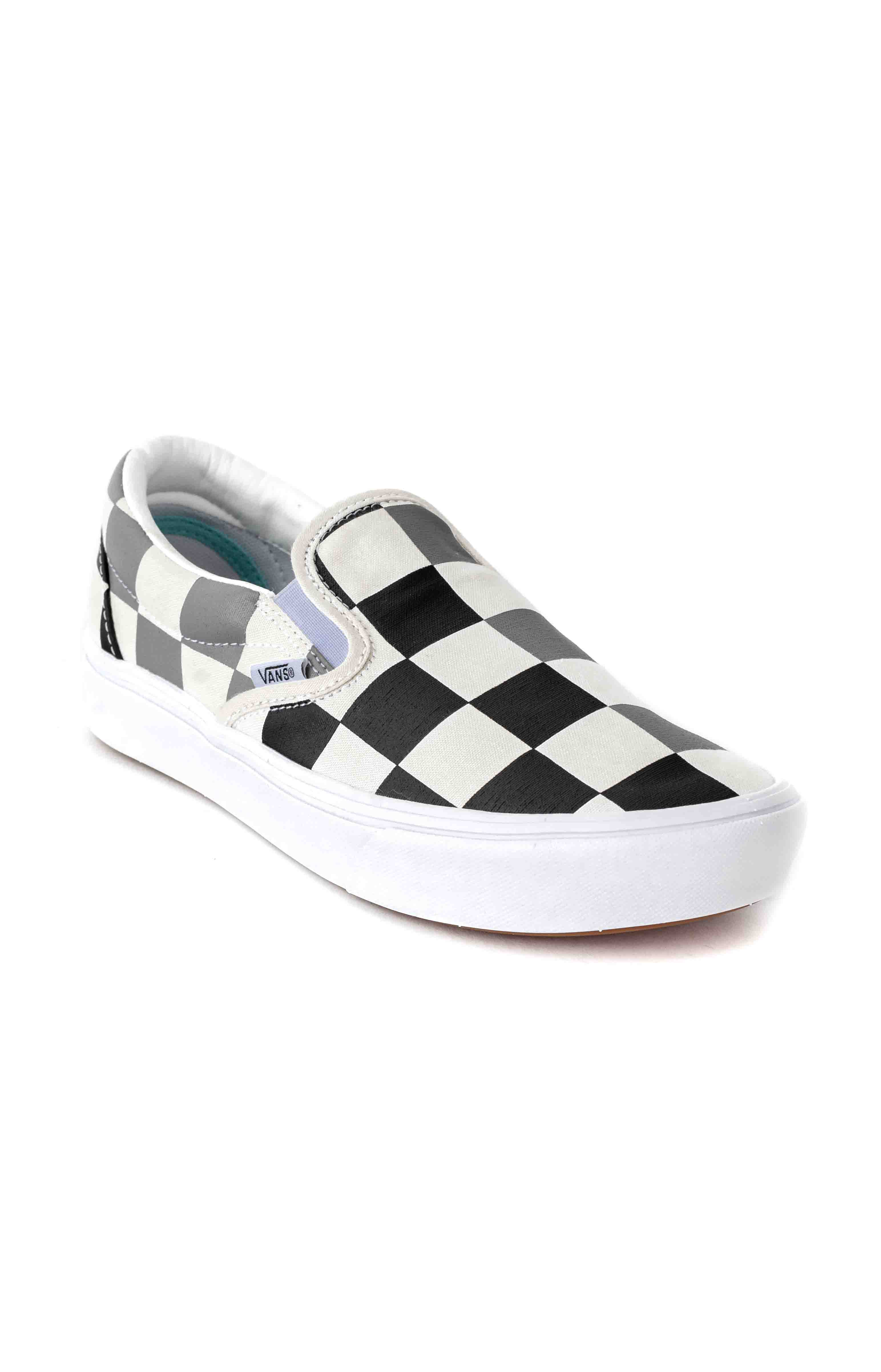 (WMDWXA) Half Big Checker ComfyCush Slip-On Shoe - Black/Grey 4