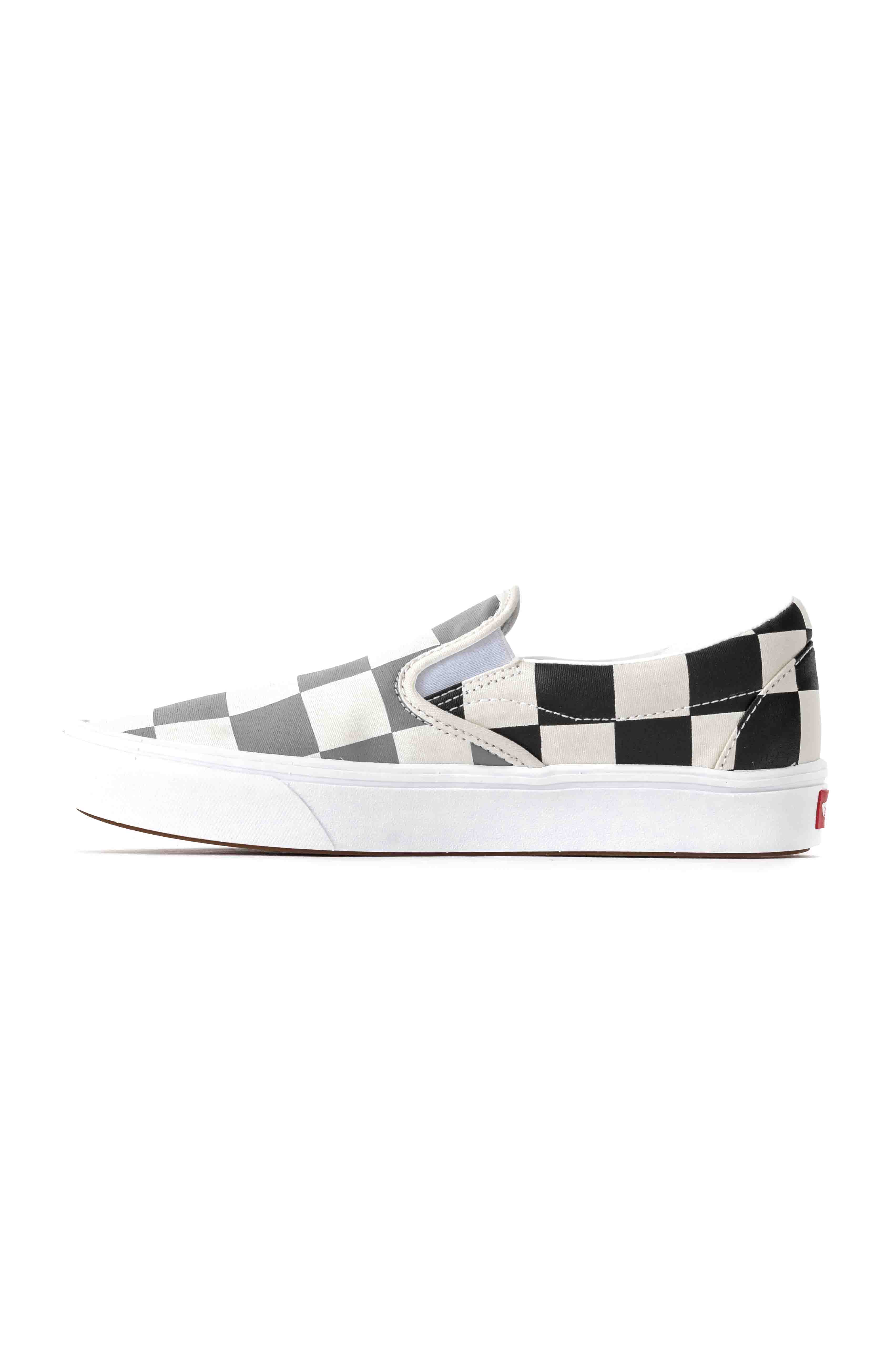 (WMDWXA) Half Big Checker ComfyCush Slip-On Shoe - Black/Grey 5