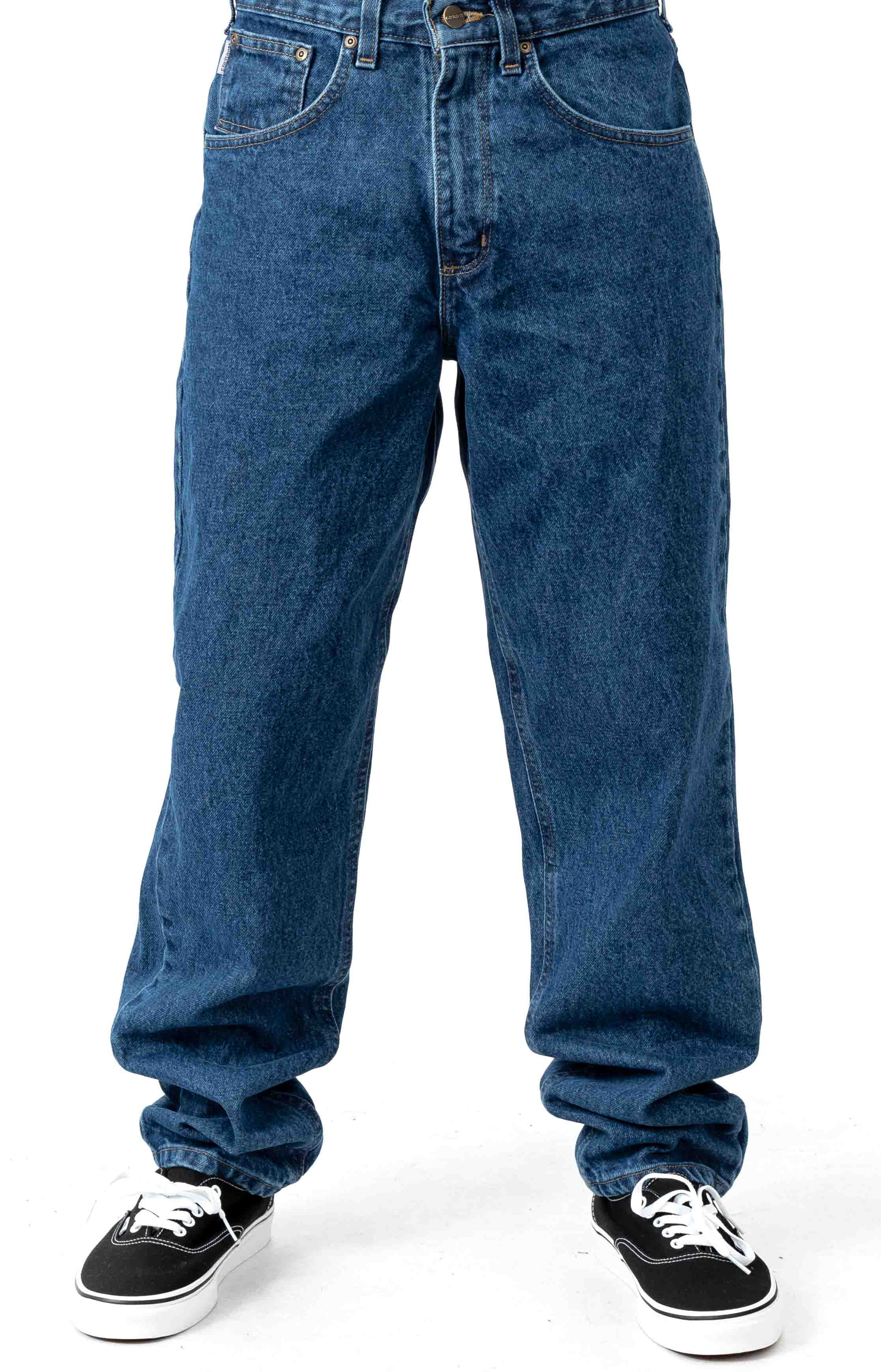 (B17) Relaxed Fit Tapered Leg Jeans - Darkstone
