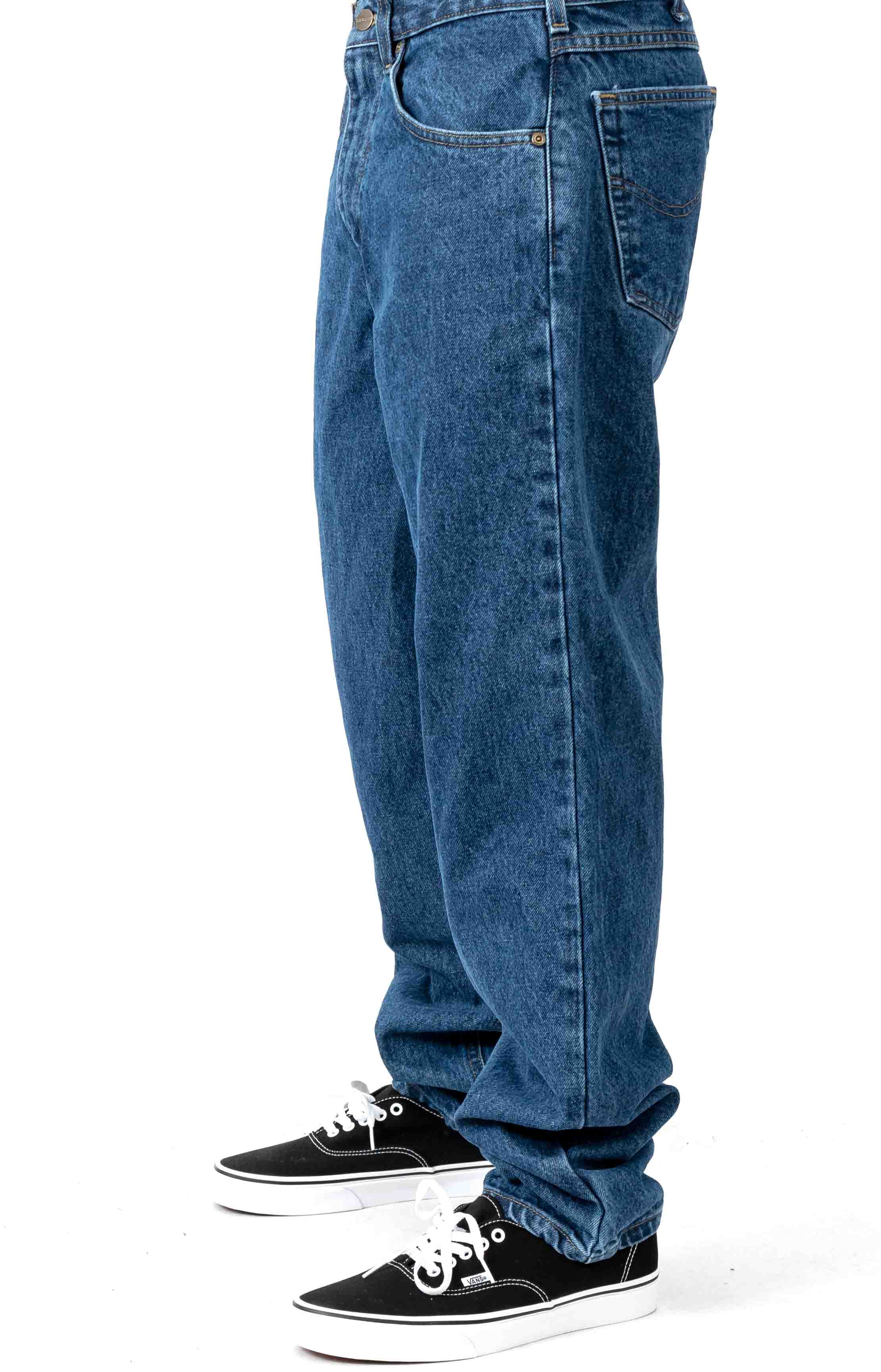(B17) Relaxed Fit Tapered Leg Jeans - Darkstone 2