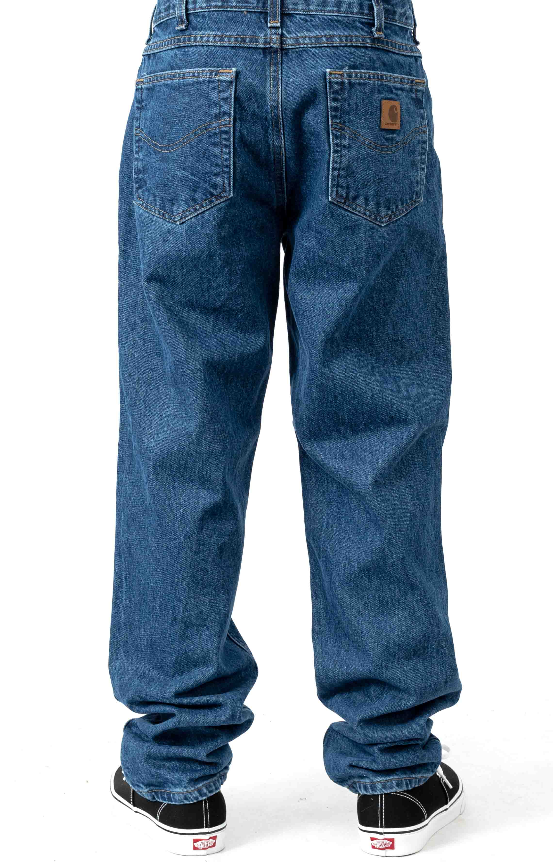 (B17) Relaxed Fit Tapered Leg Jeans - Darkstone 3