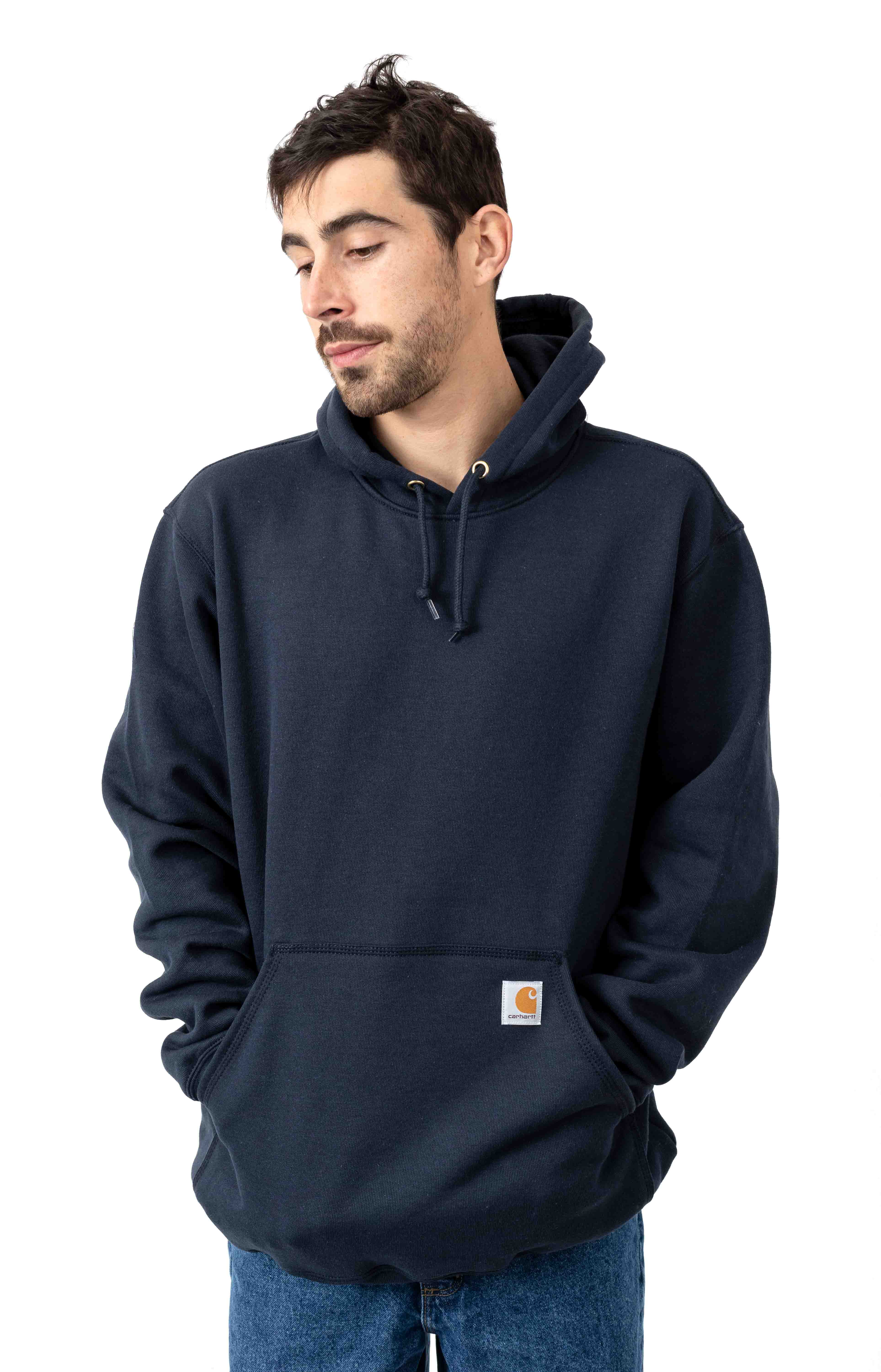 (K121) Midweight Pullover Hoodie - New Navy