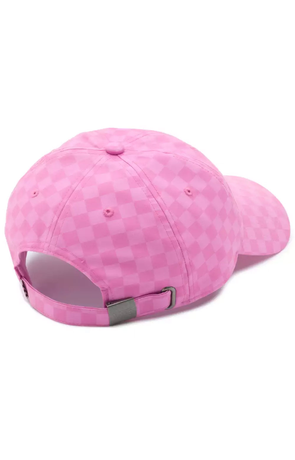 Court Side Printed Dad Hat - Fuchsia Pink Check 2