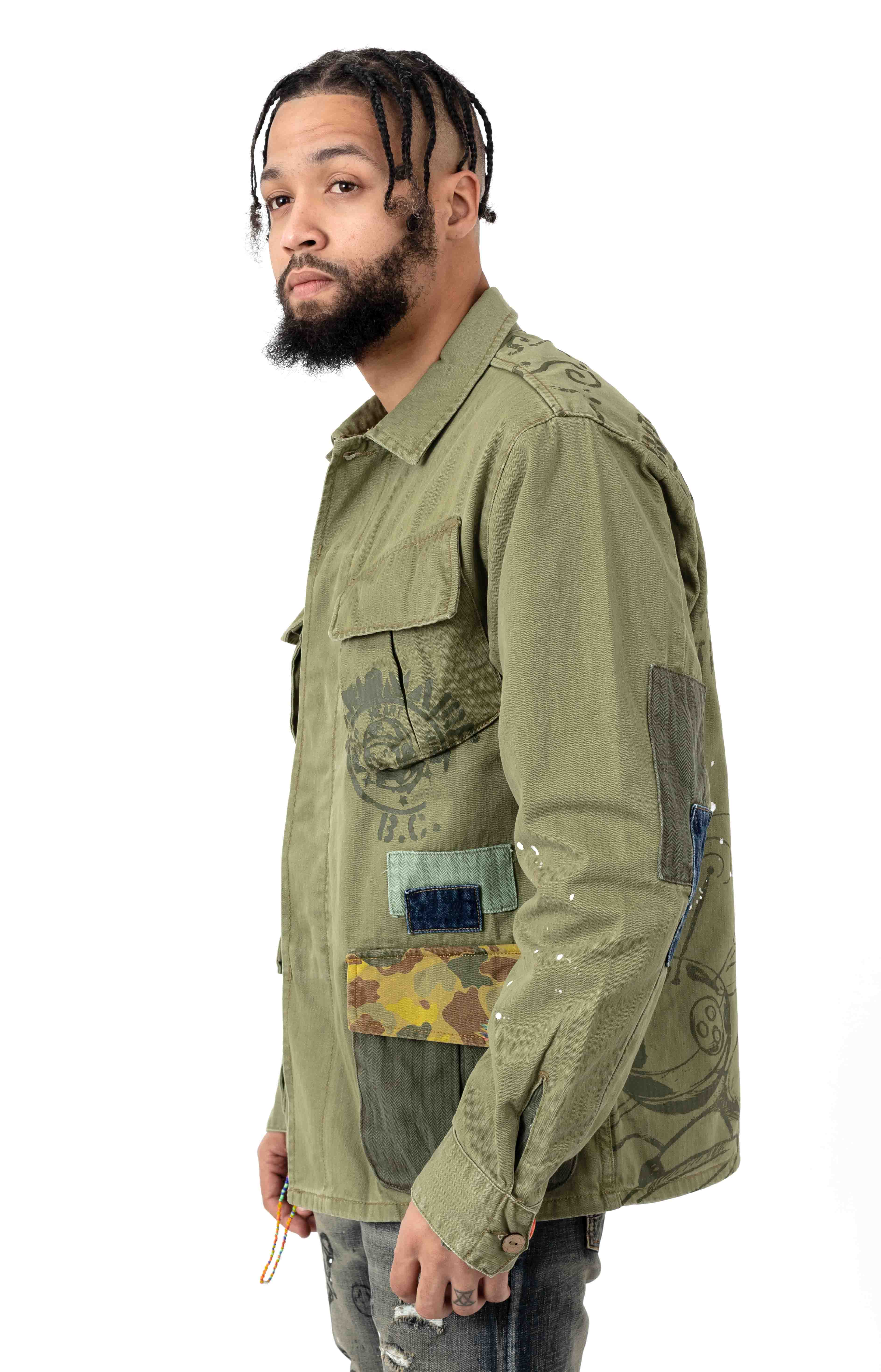 BB Fatigued Jacket - Loden Green  2