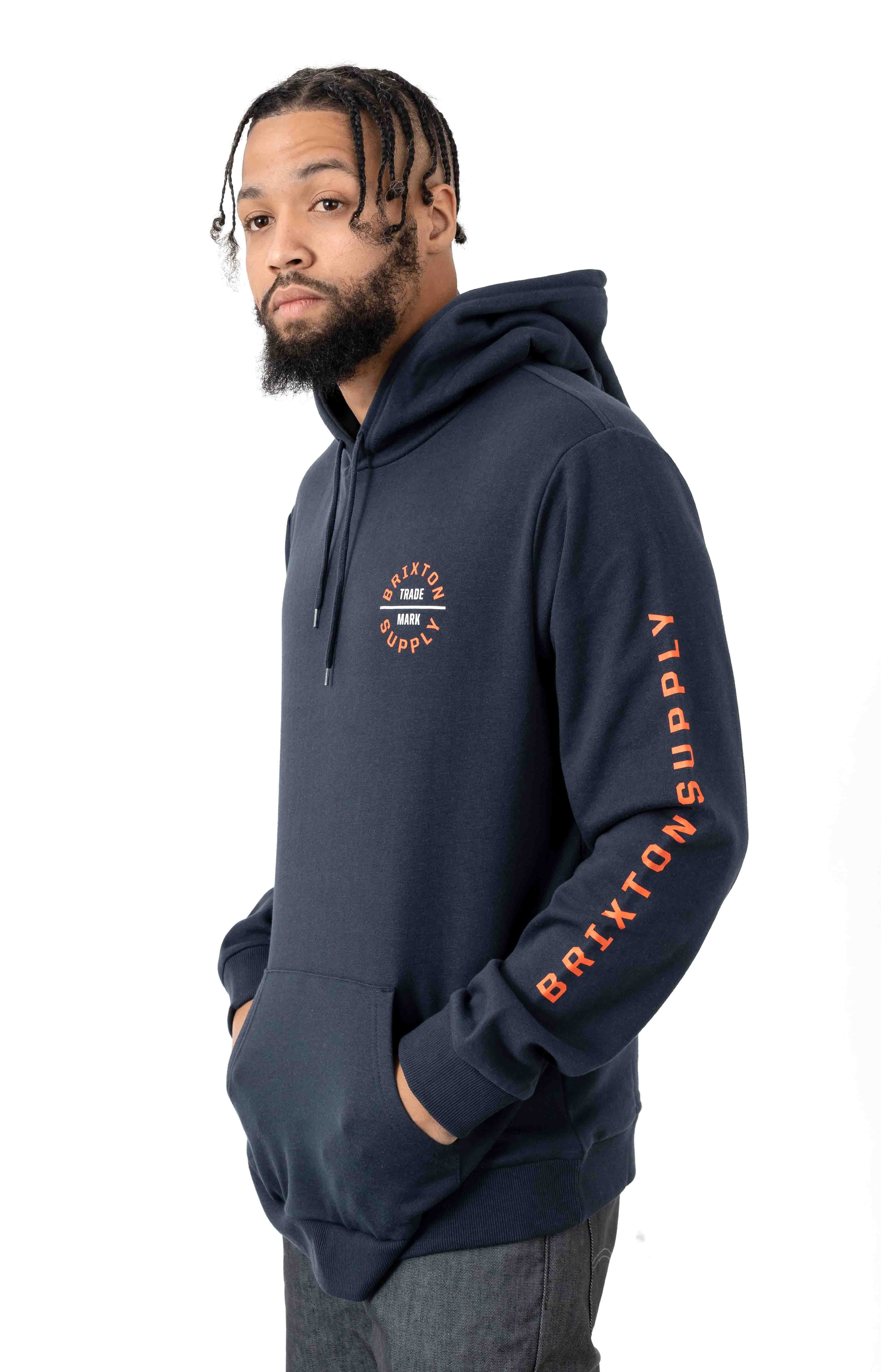 Oath VI Pullover Hoodie - Washed Navy 2