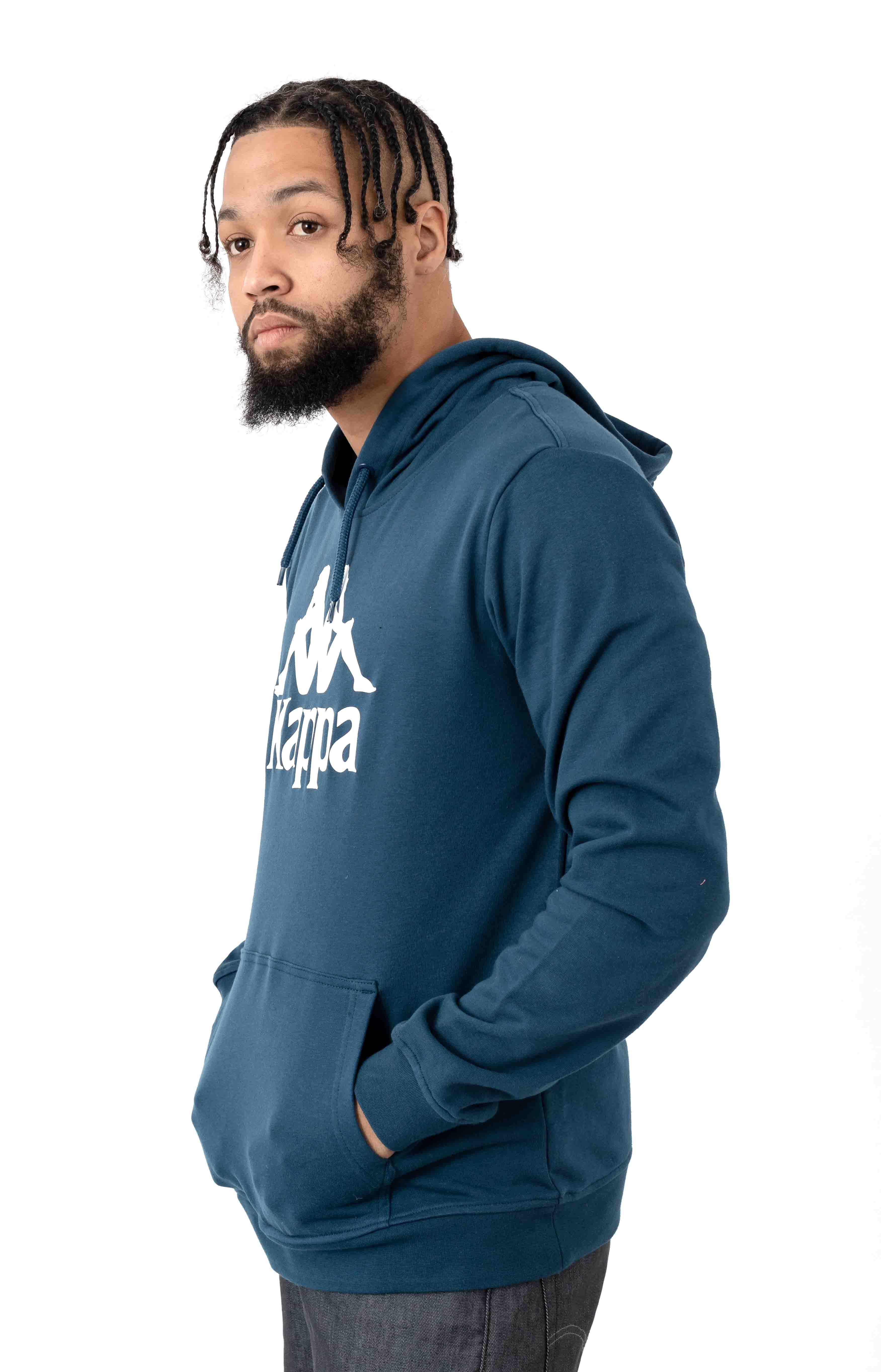 Authentic Zimim Pullover Hoodie - Blue/Dark White 2