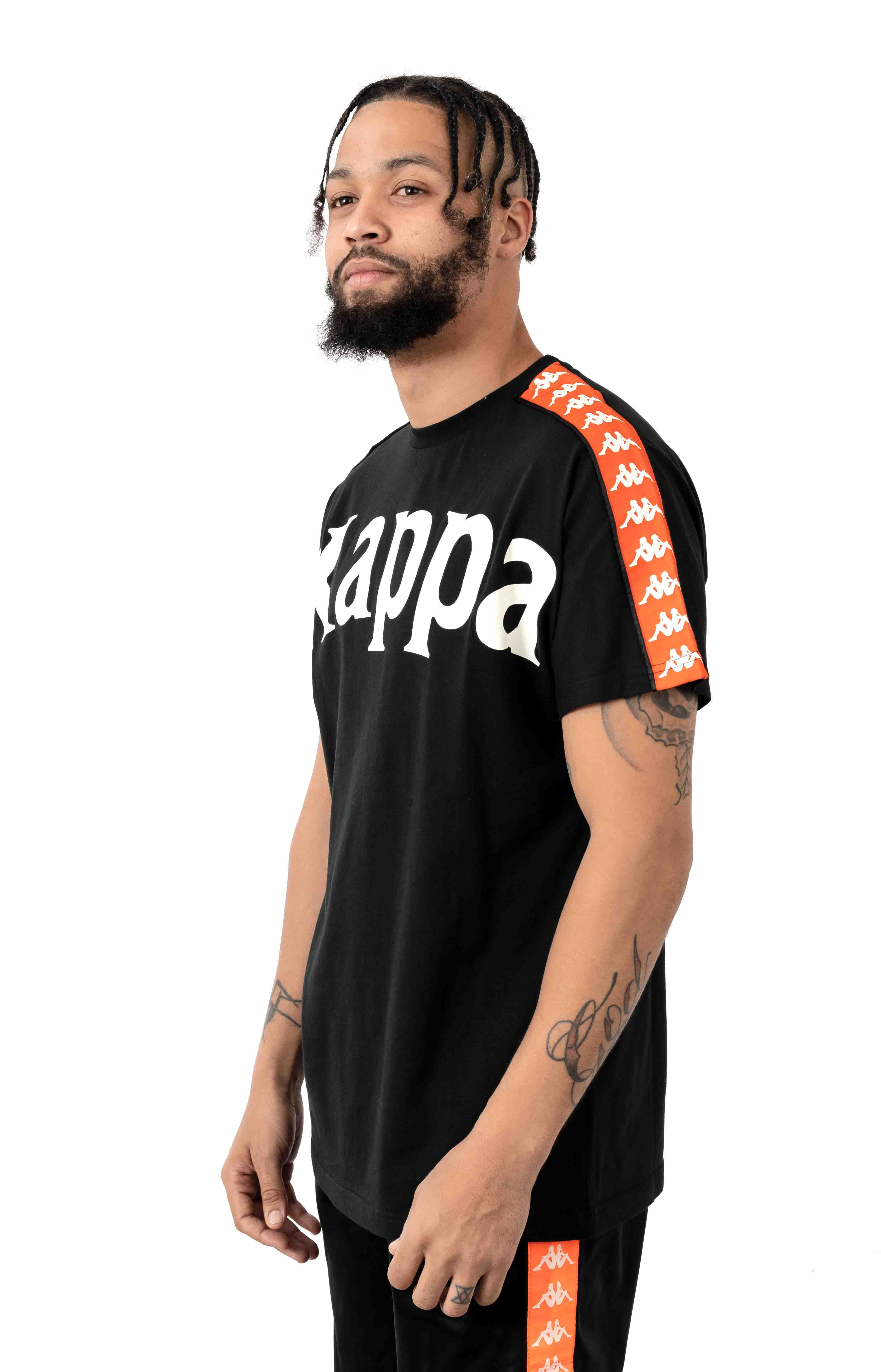 222 Banda Cultin T-Shirt - Black/Orange 2