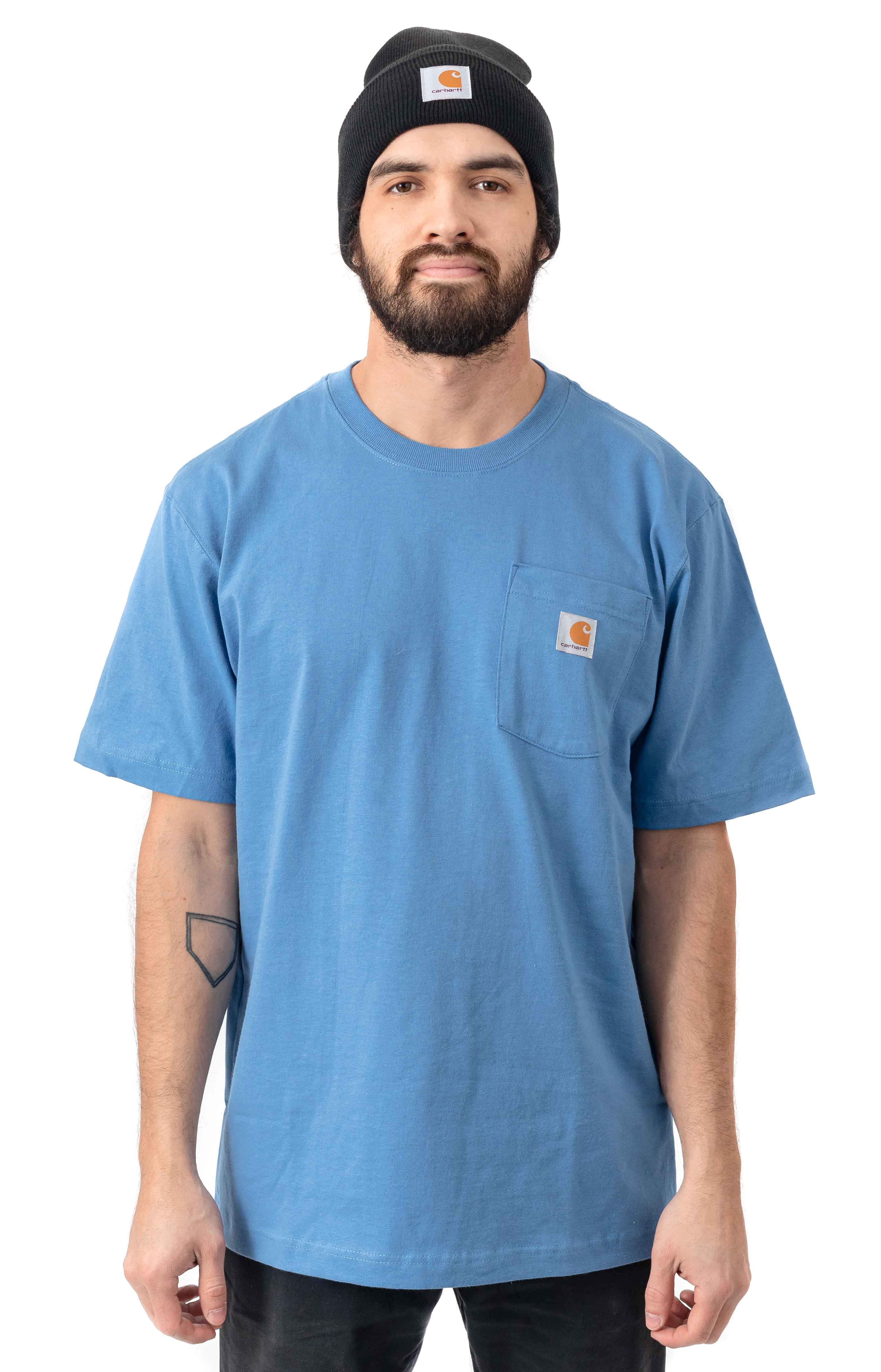 (K87) Workwear Pocket T-Shirt - French Blue