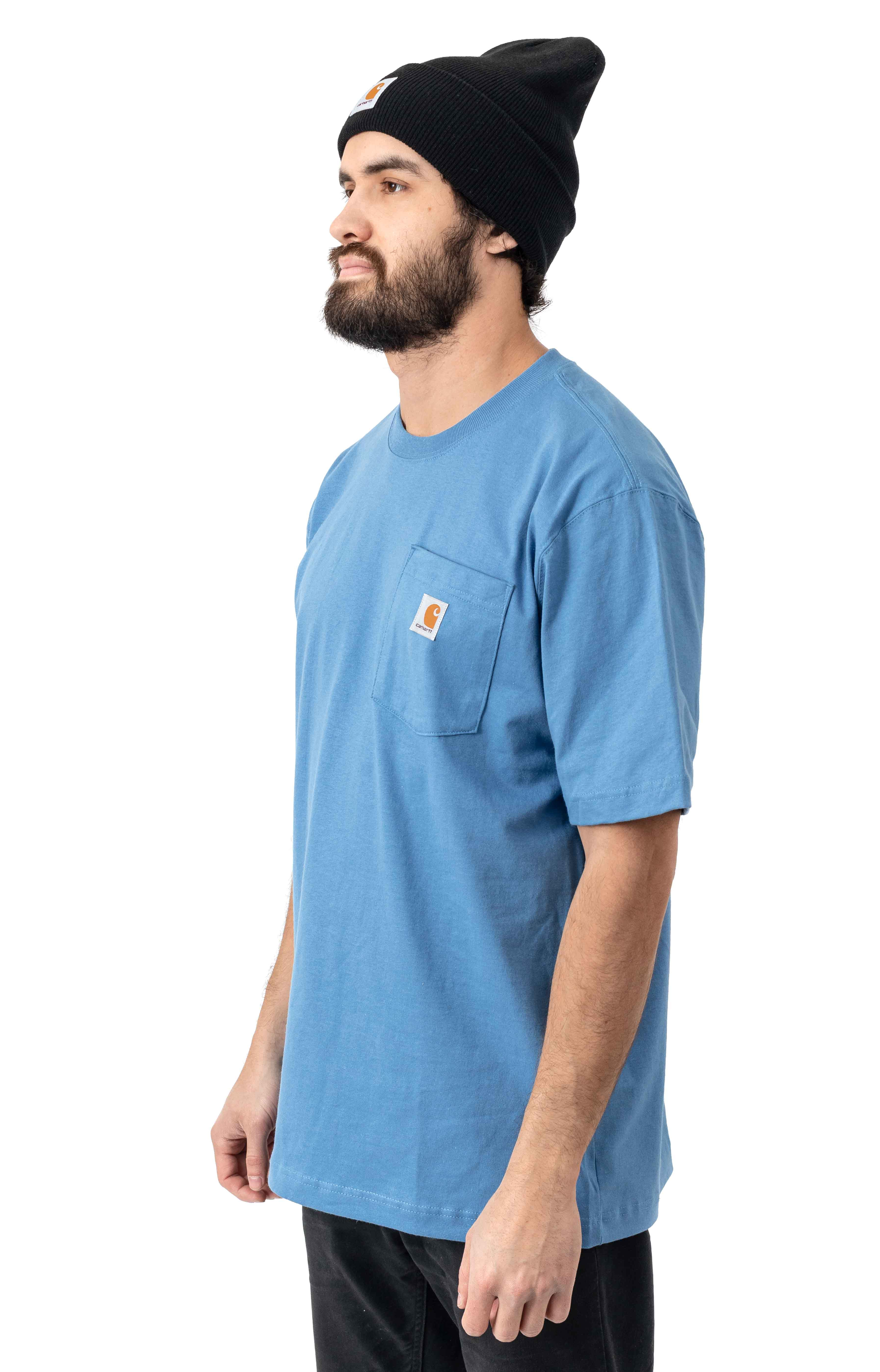 (K87) Workwear Pocket T-Shirt - French Blue 2