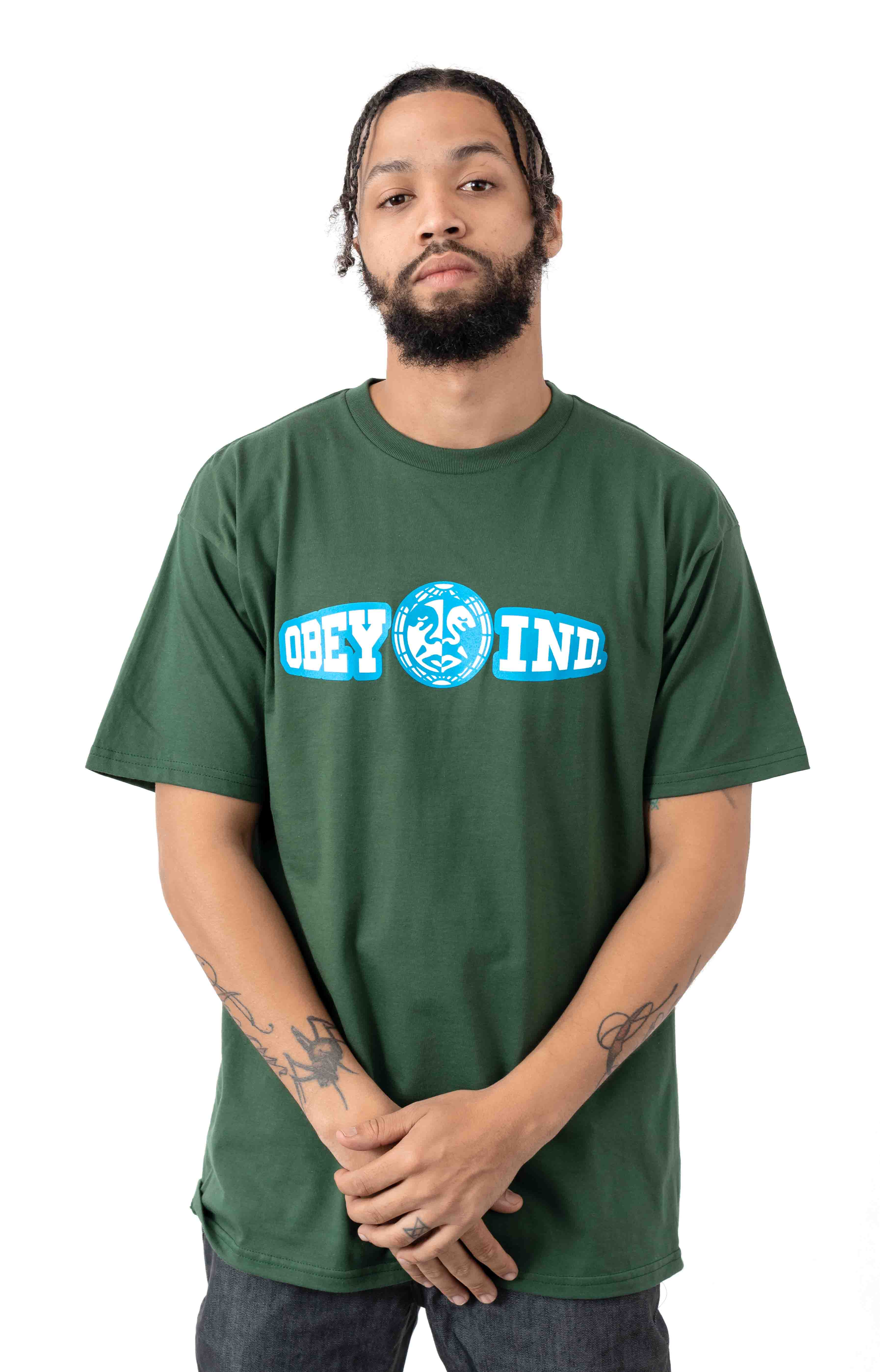 Obey Unity & Respect T-Shirt - Forest Green