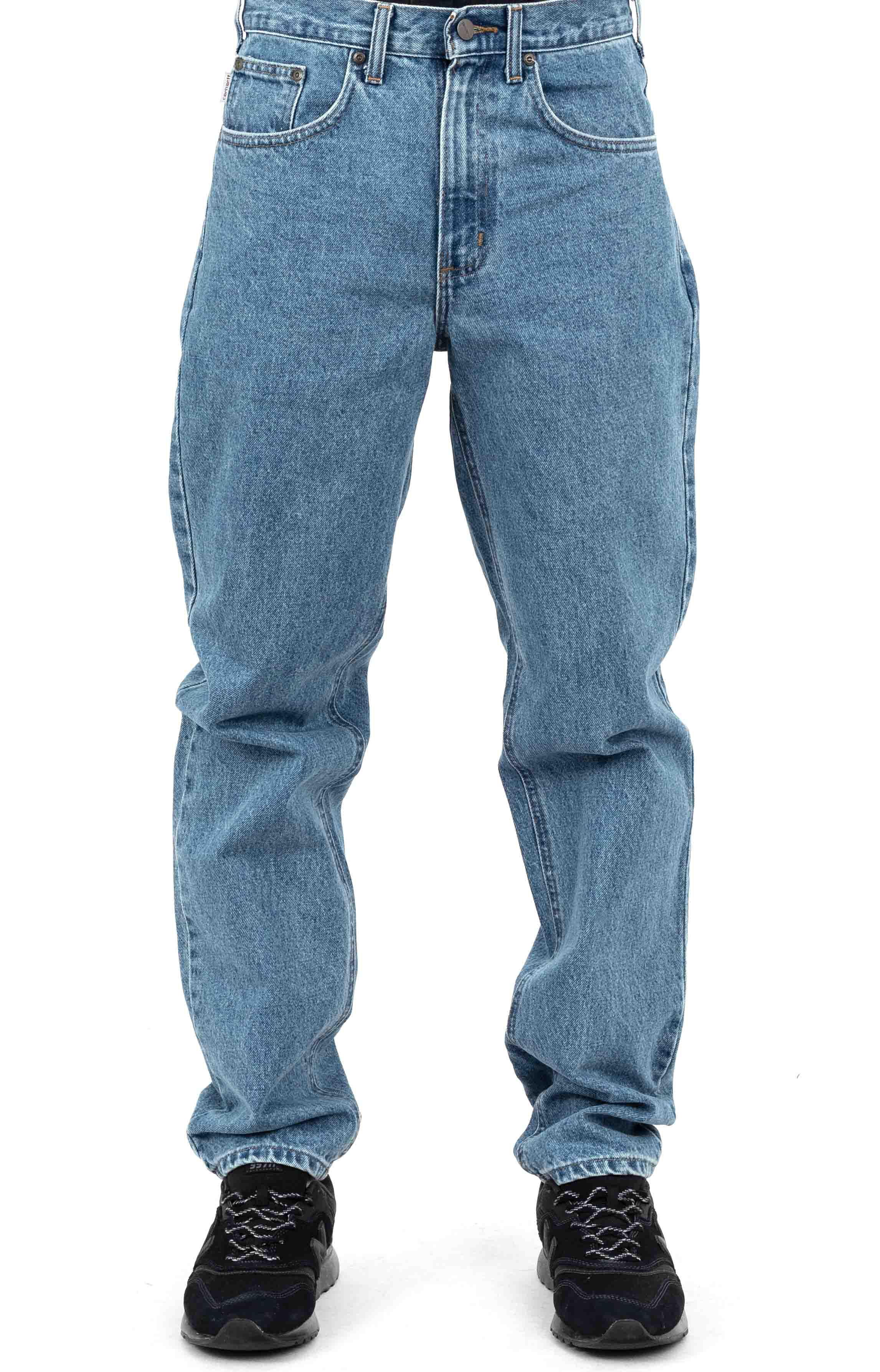 (B17) Relaxed Fit Tapered Leg Jeans - Stonewash