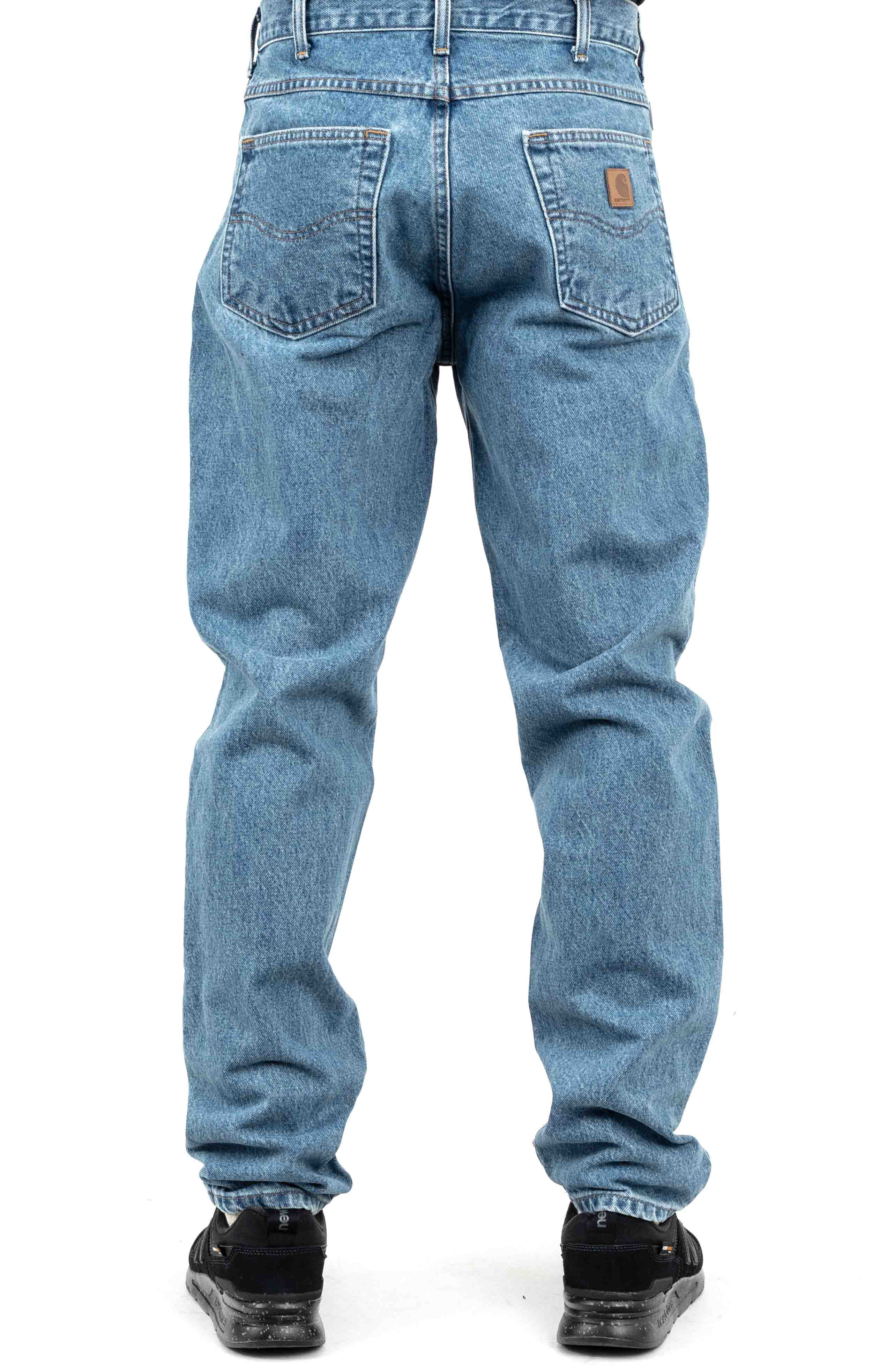 (B17) Relaxed Fit Tapered Leg Jeans - Stonewash 3