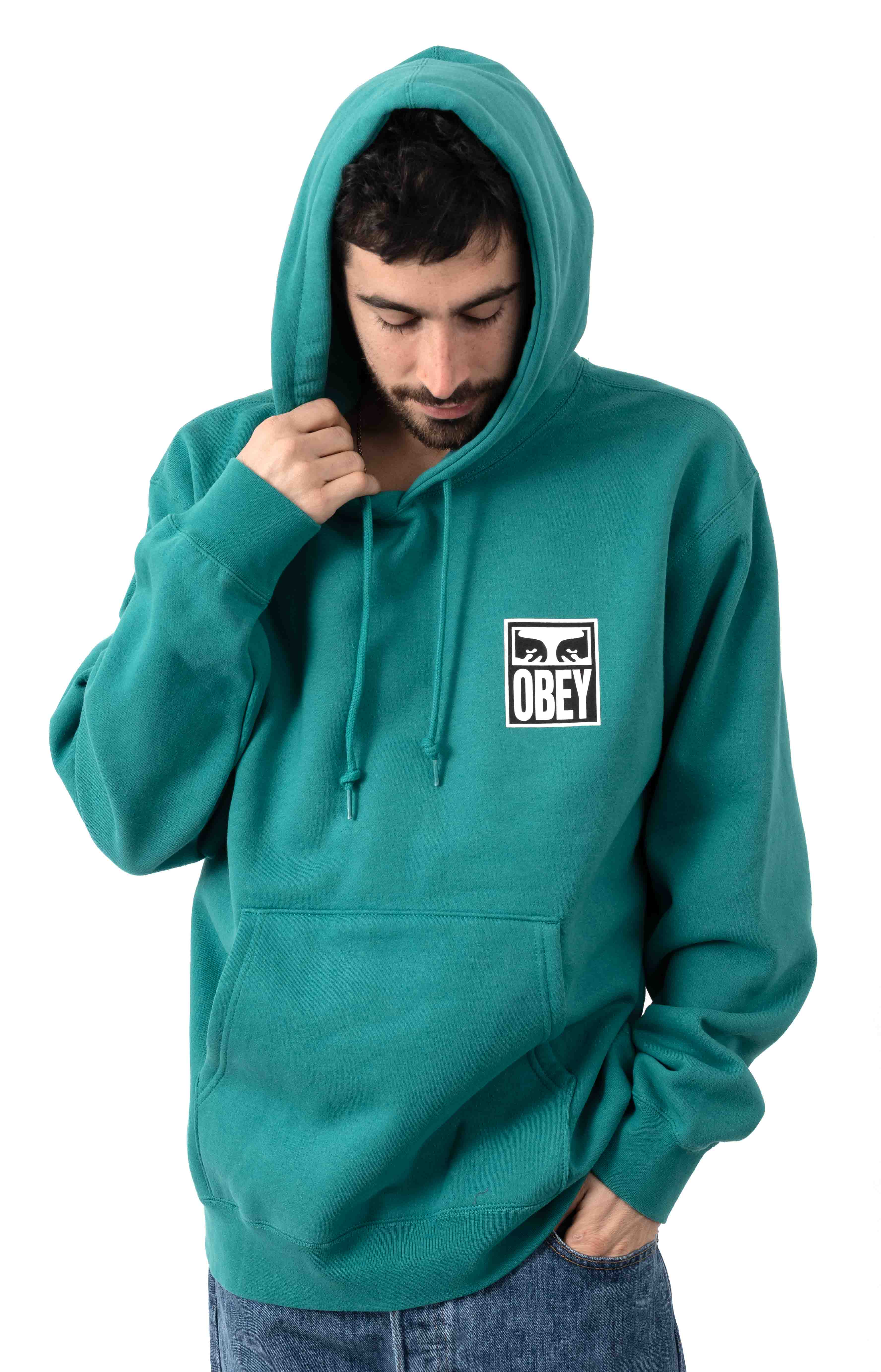 Obey Eyes Icon 2 Pullover Hoodie - Eucalyptus 2