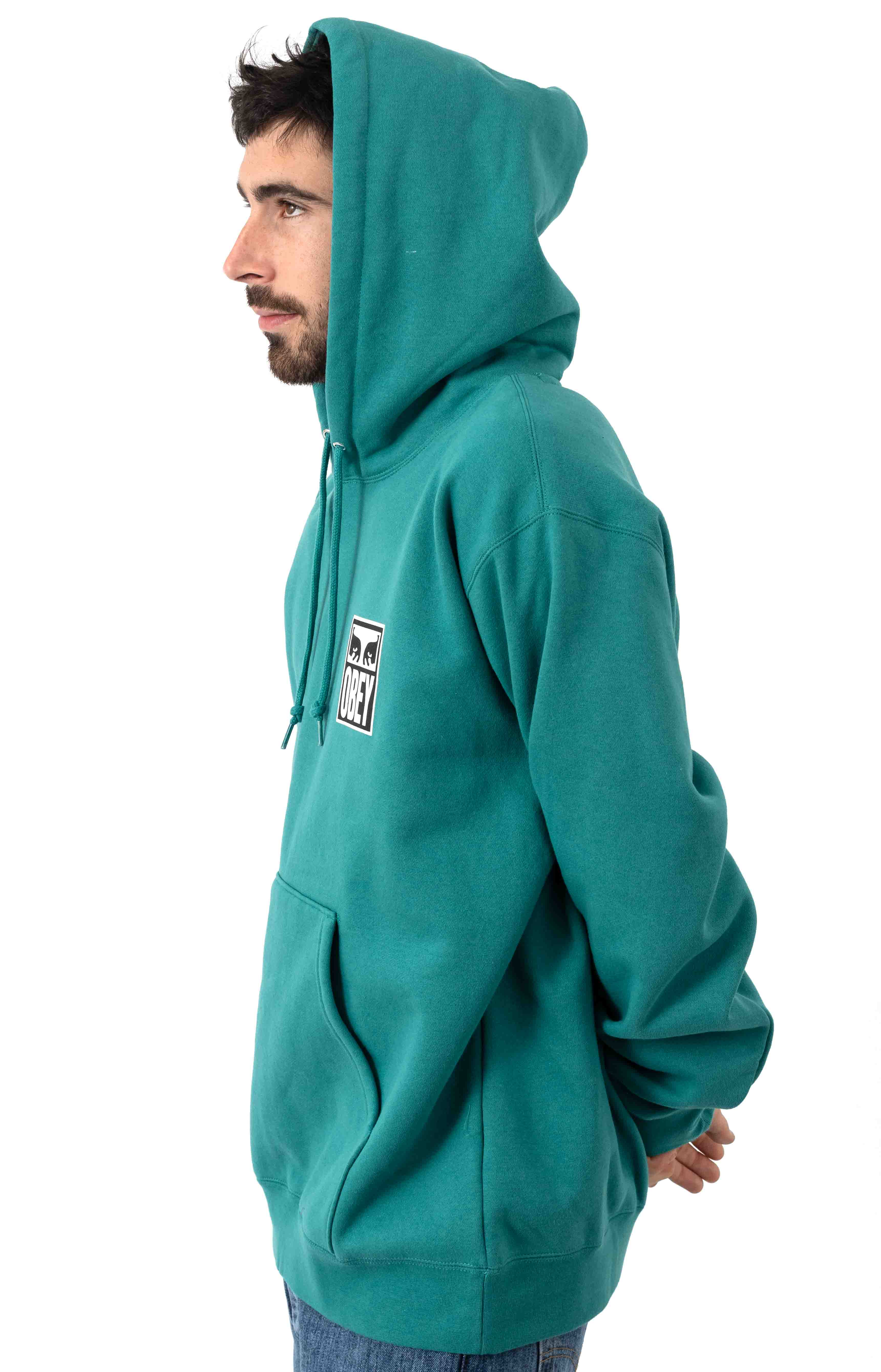 Obey Eyes Icon 2 Pullover Hoodie - Eucalyptus 3
