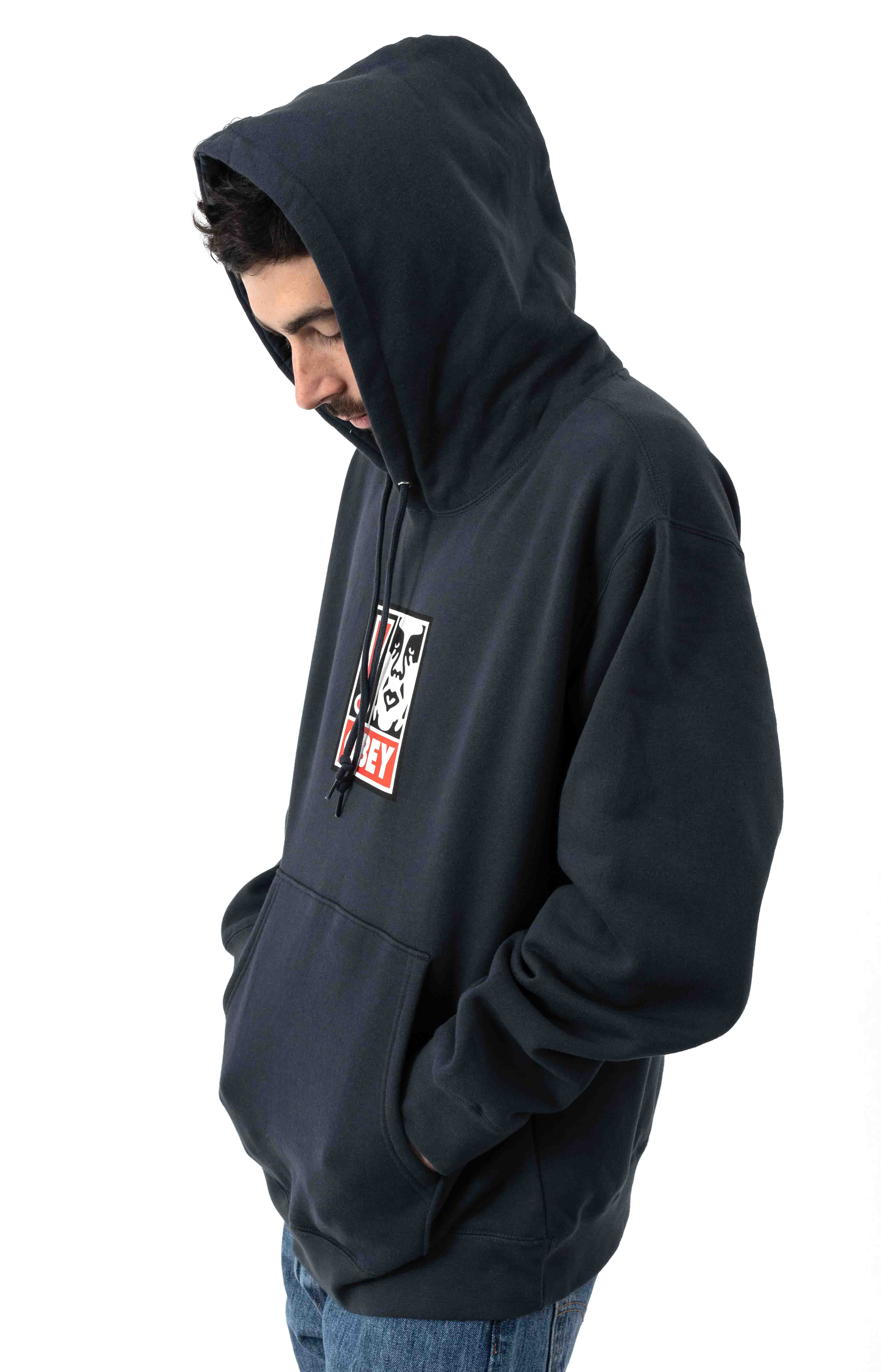 Exclamation Point Pullover Hoodie - Slate Blue 2