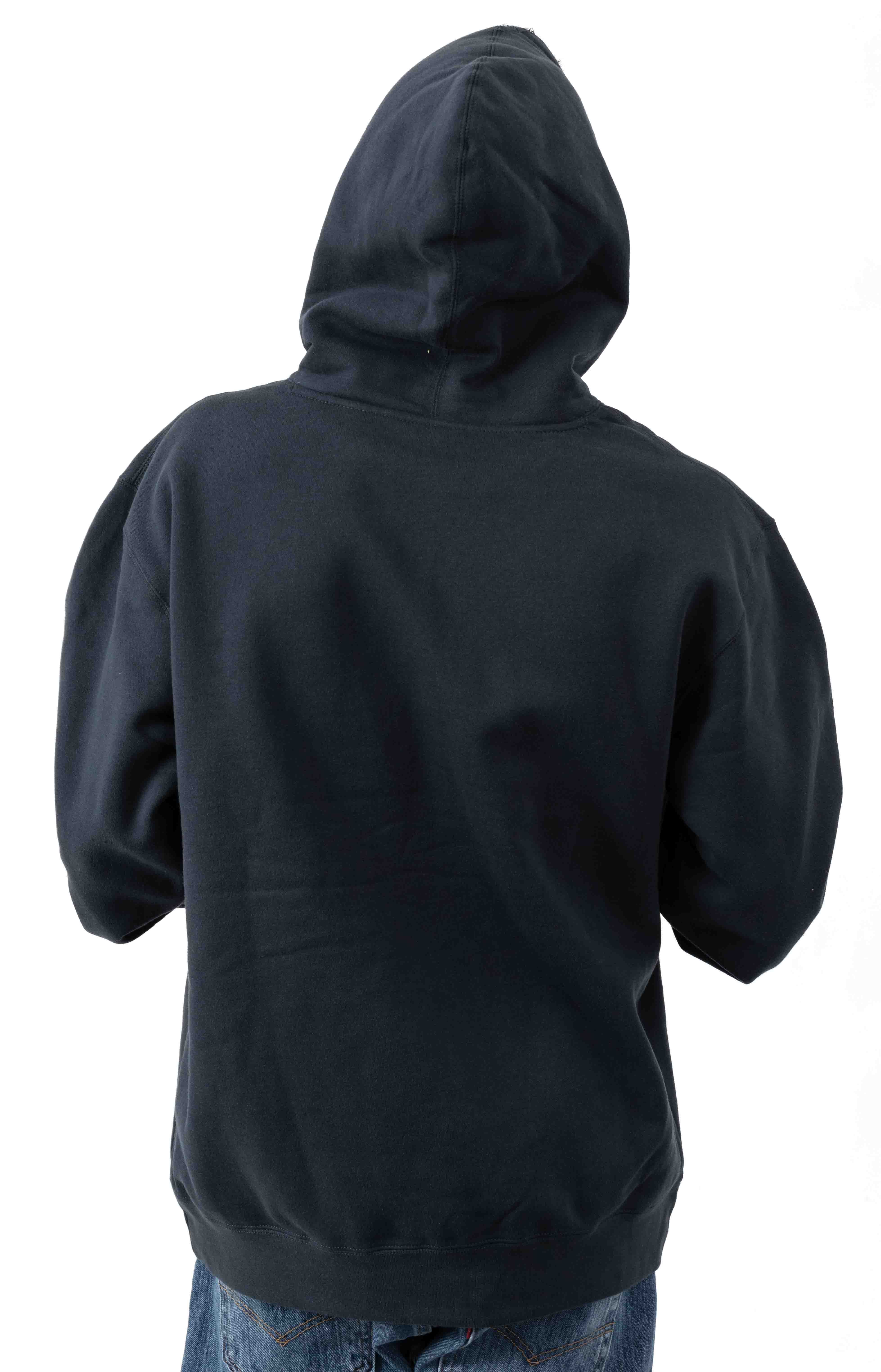 Exclamation Point Pullover Hoodie - Slate Blue 3