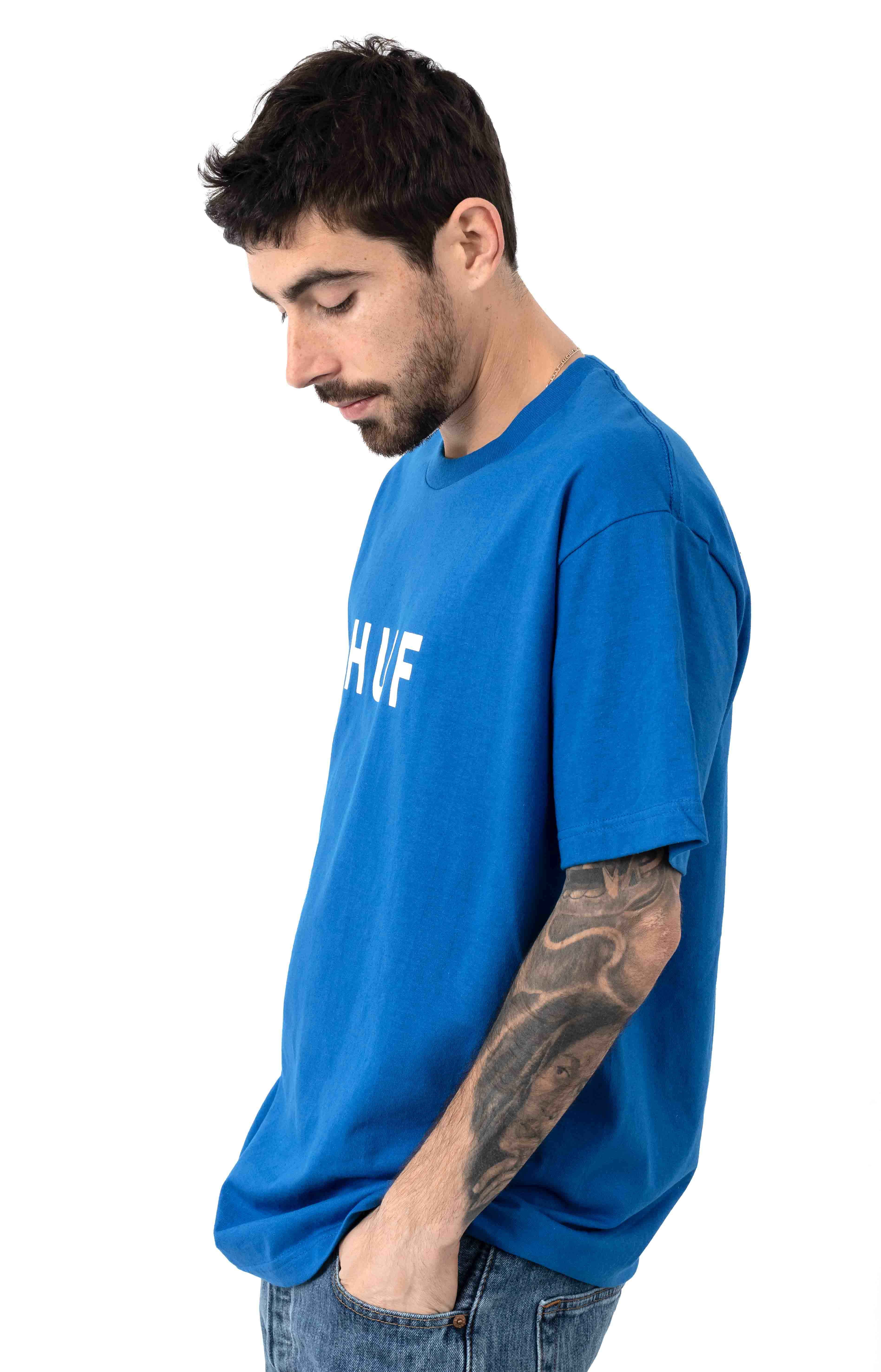 Essentials OG Logo T-Shirt - Olympian Blue 2