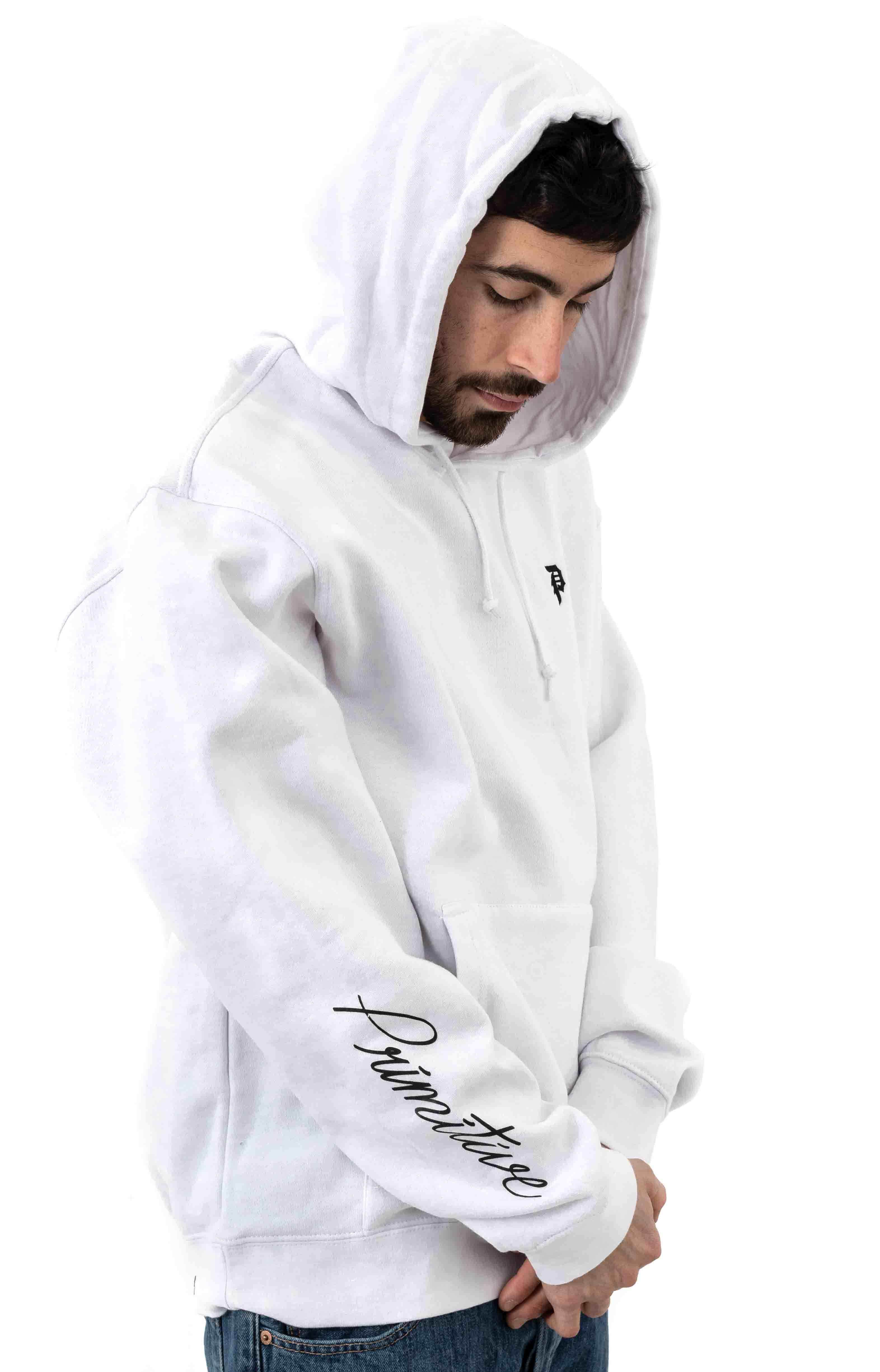 Beacon Pullover Hoodie - White  2