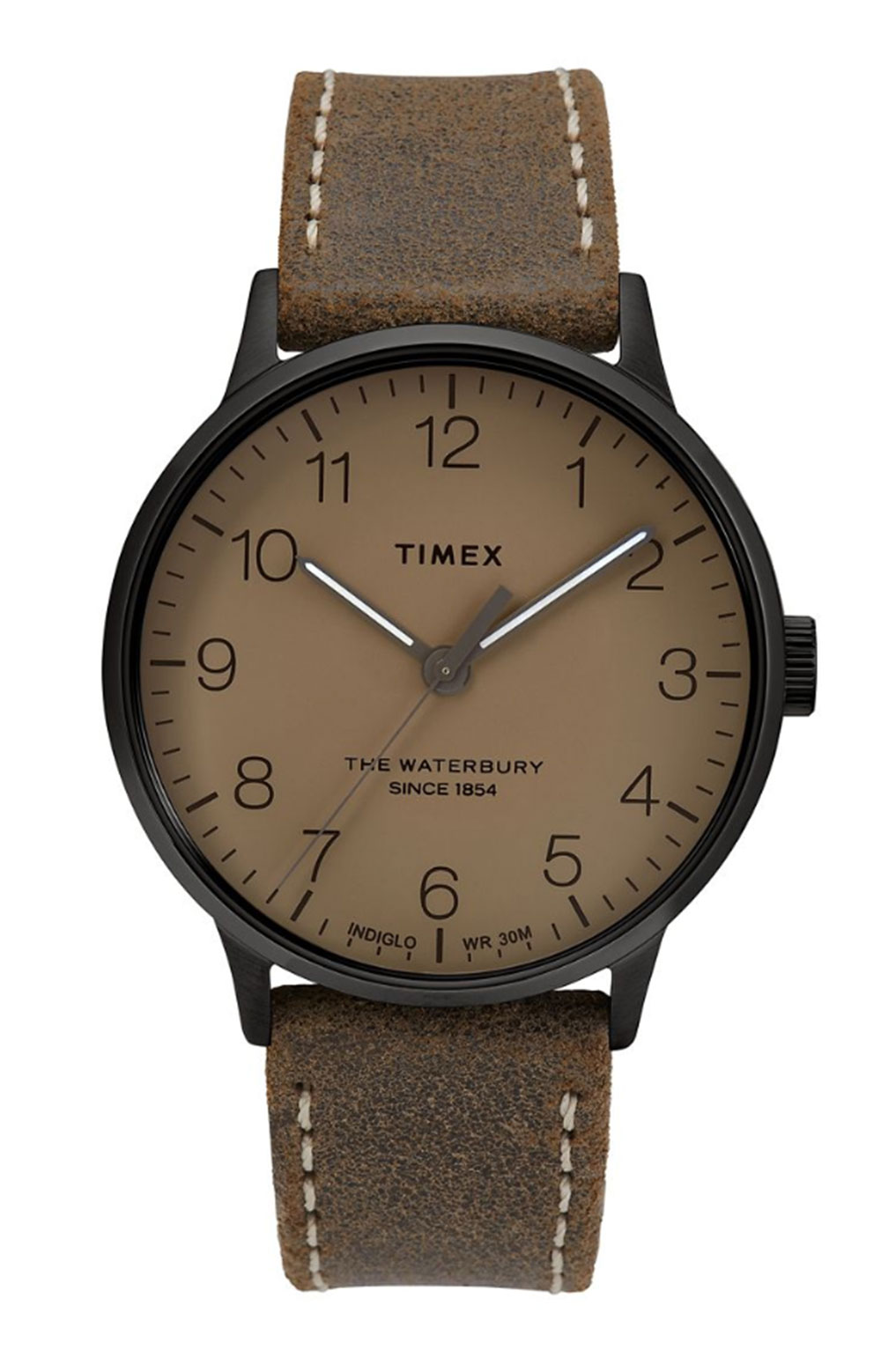 (TW2T27800VQ) Waterbury Classic Stainless Steel & Leather-Strap Watch - Brown