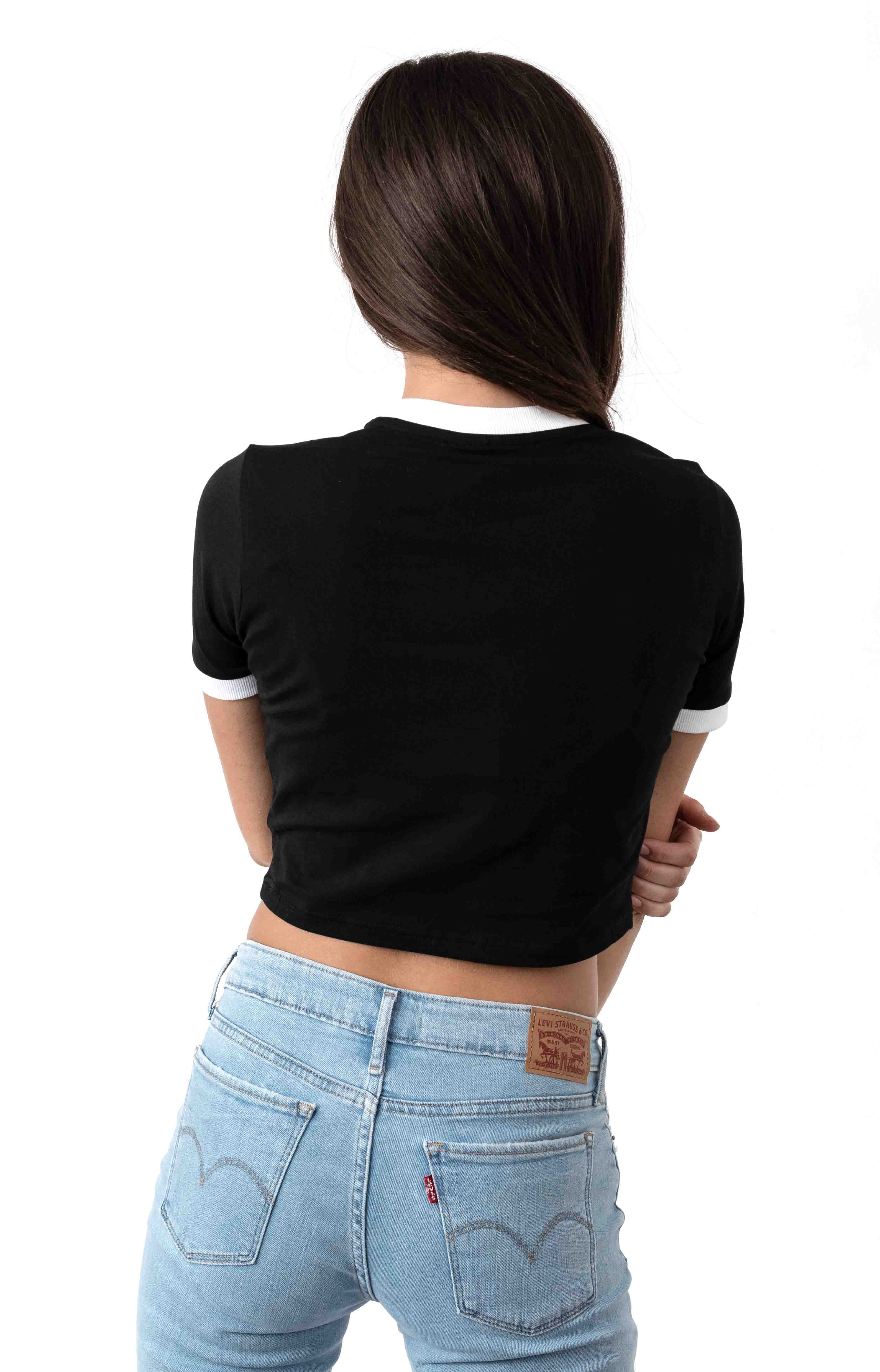 Tionne Crop Top - Black/White  3
