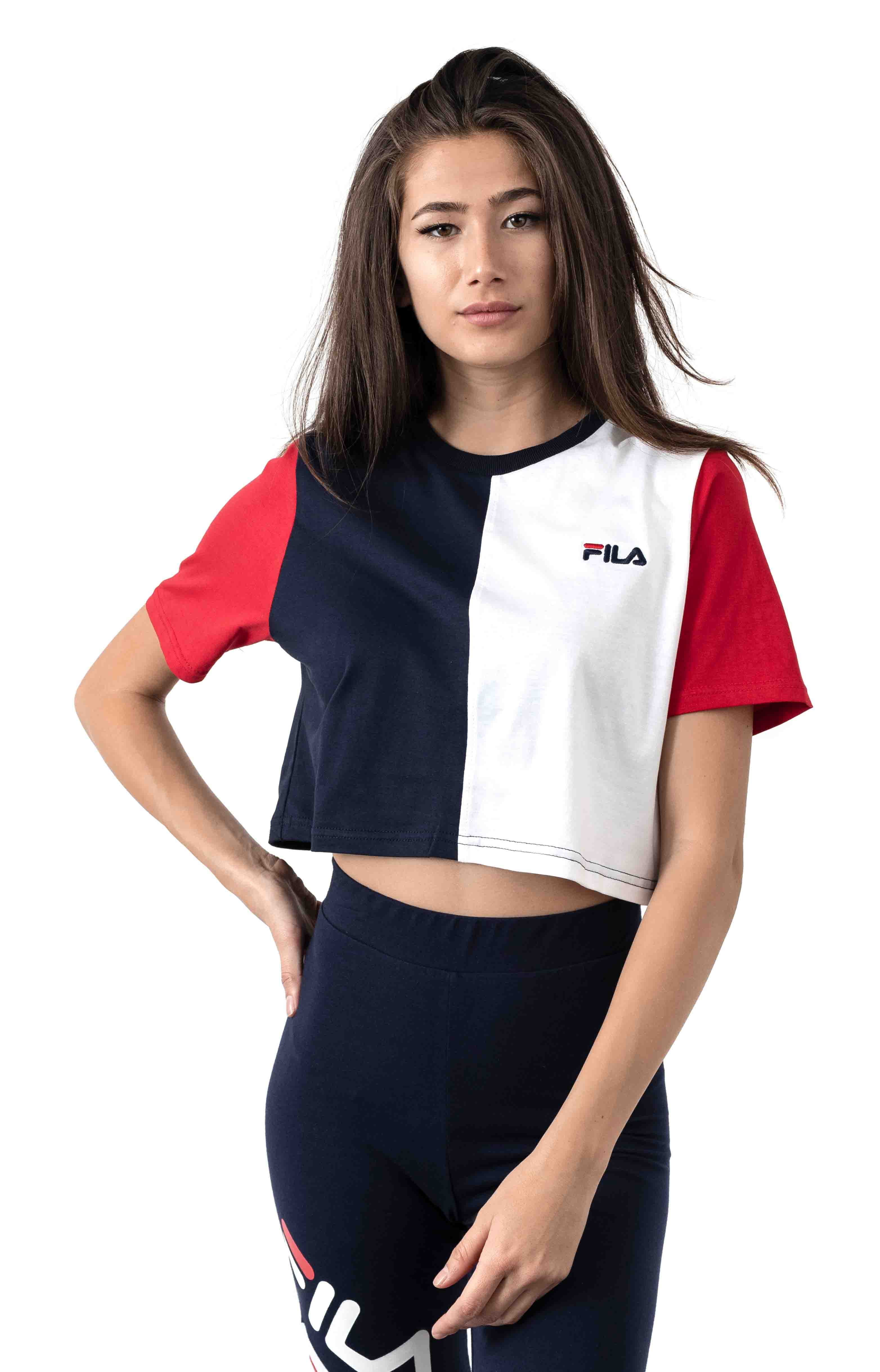 Prudence Crop Top - Peacoat/White
