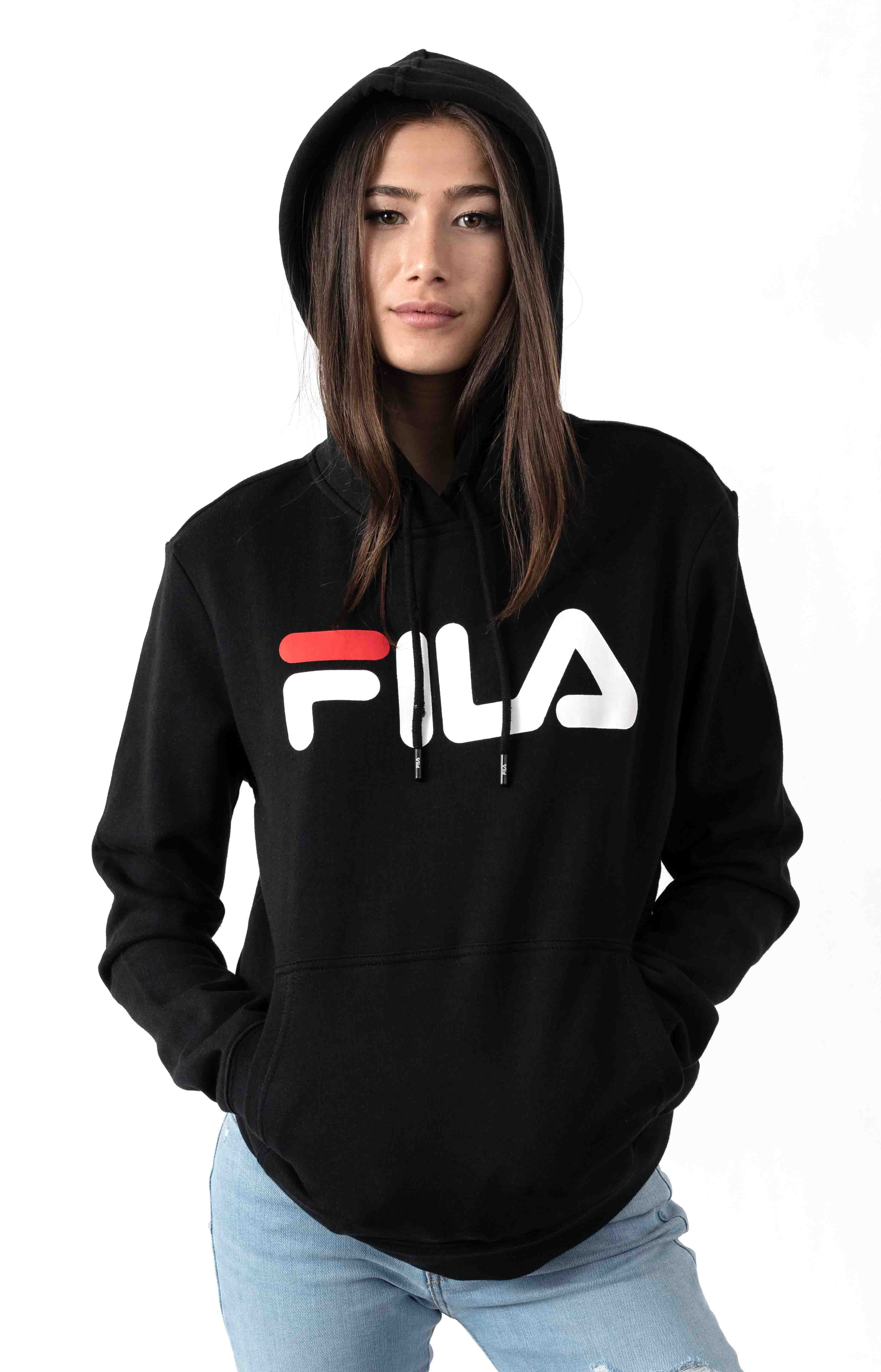 Lucy Pullover Hoodie - Black/White