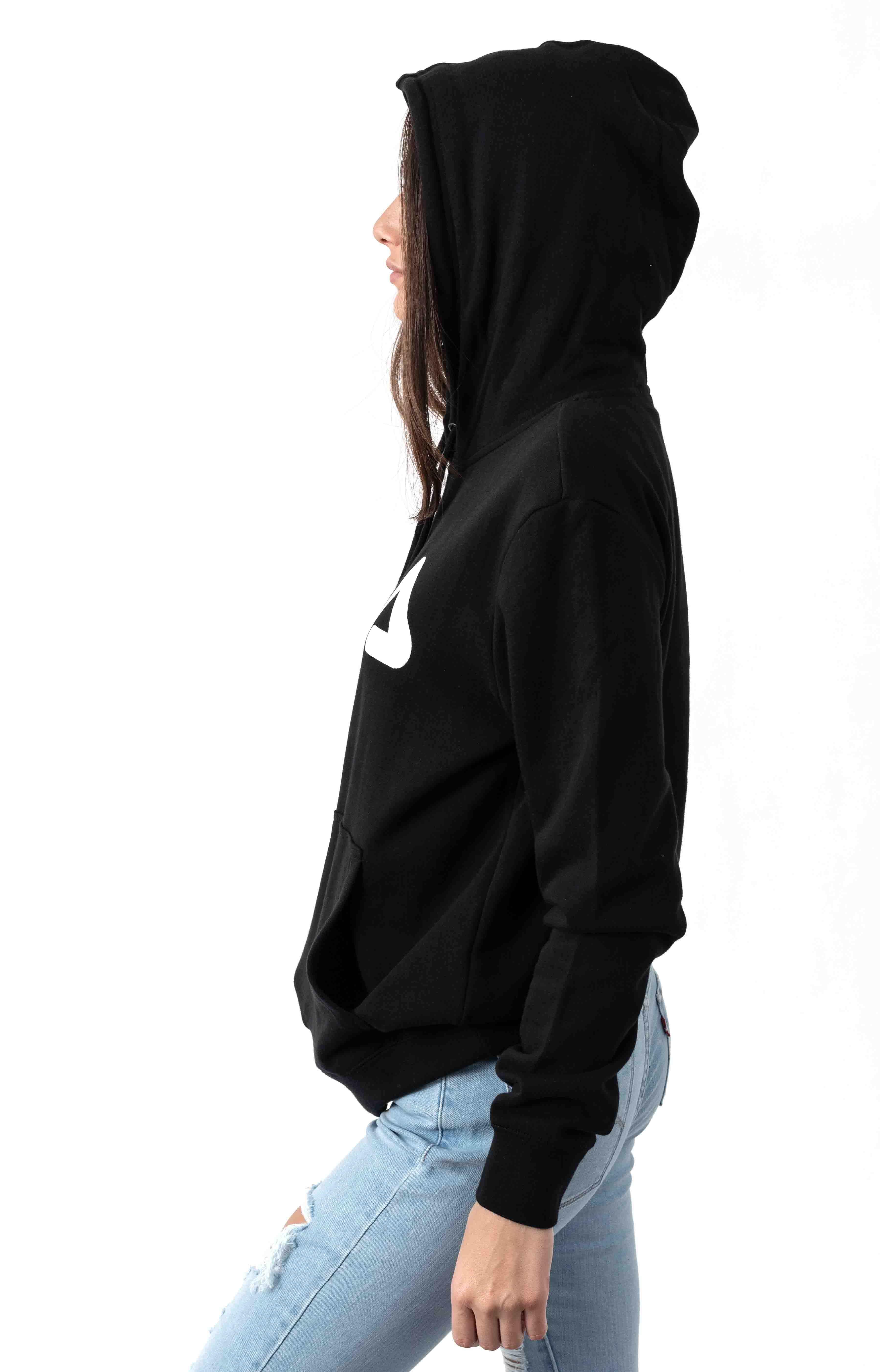 Lucy Pullover Hoodie - Black/White 2