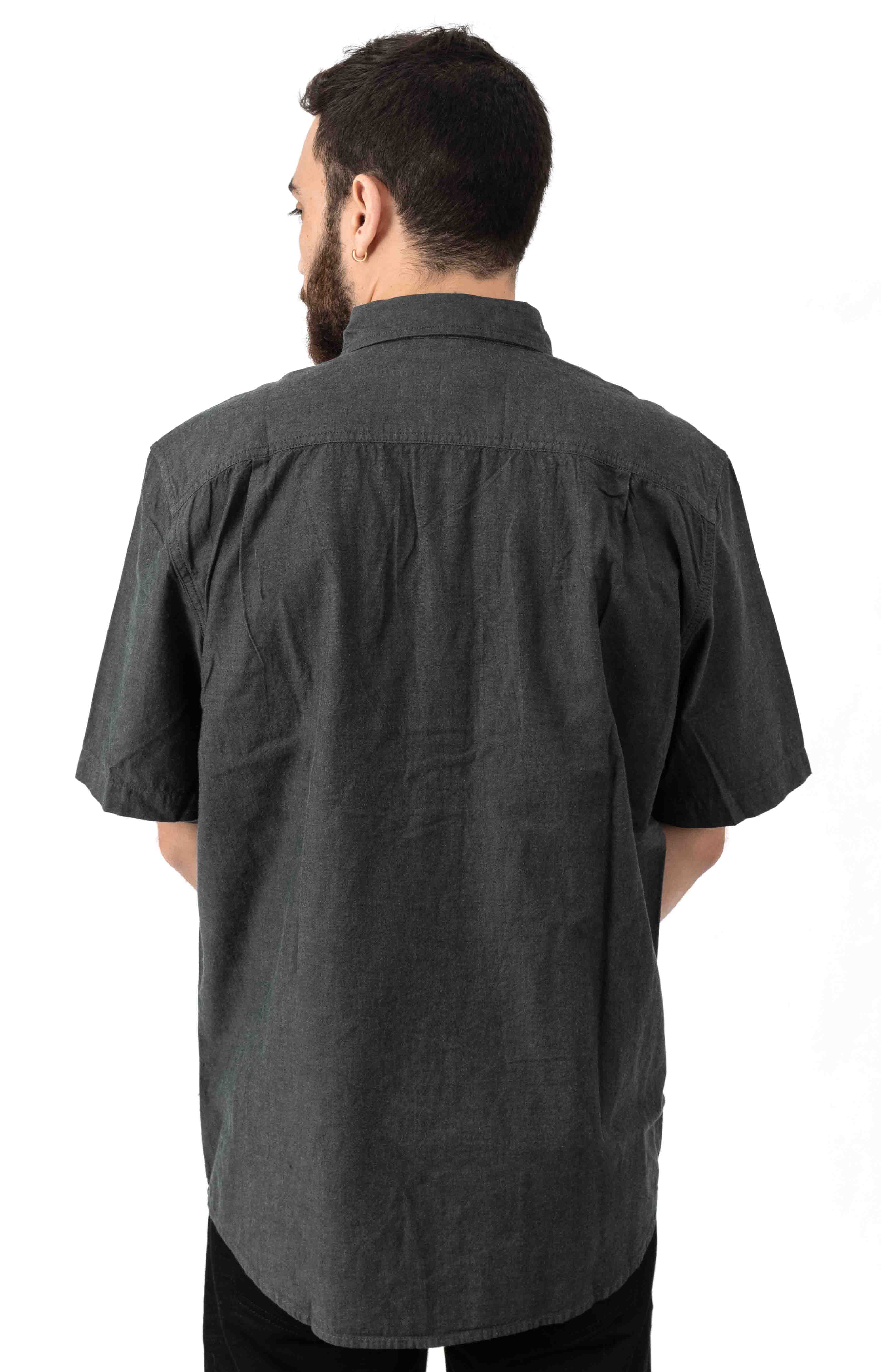 (104369) Original Fit MW S/S Button-Up Shirt - Black Chambray  3
