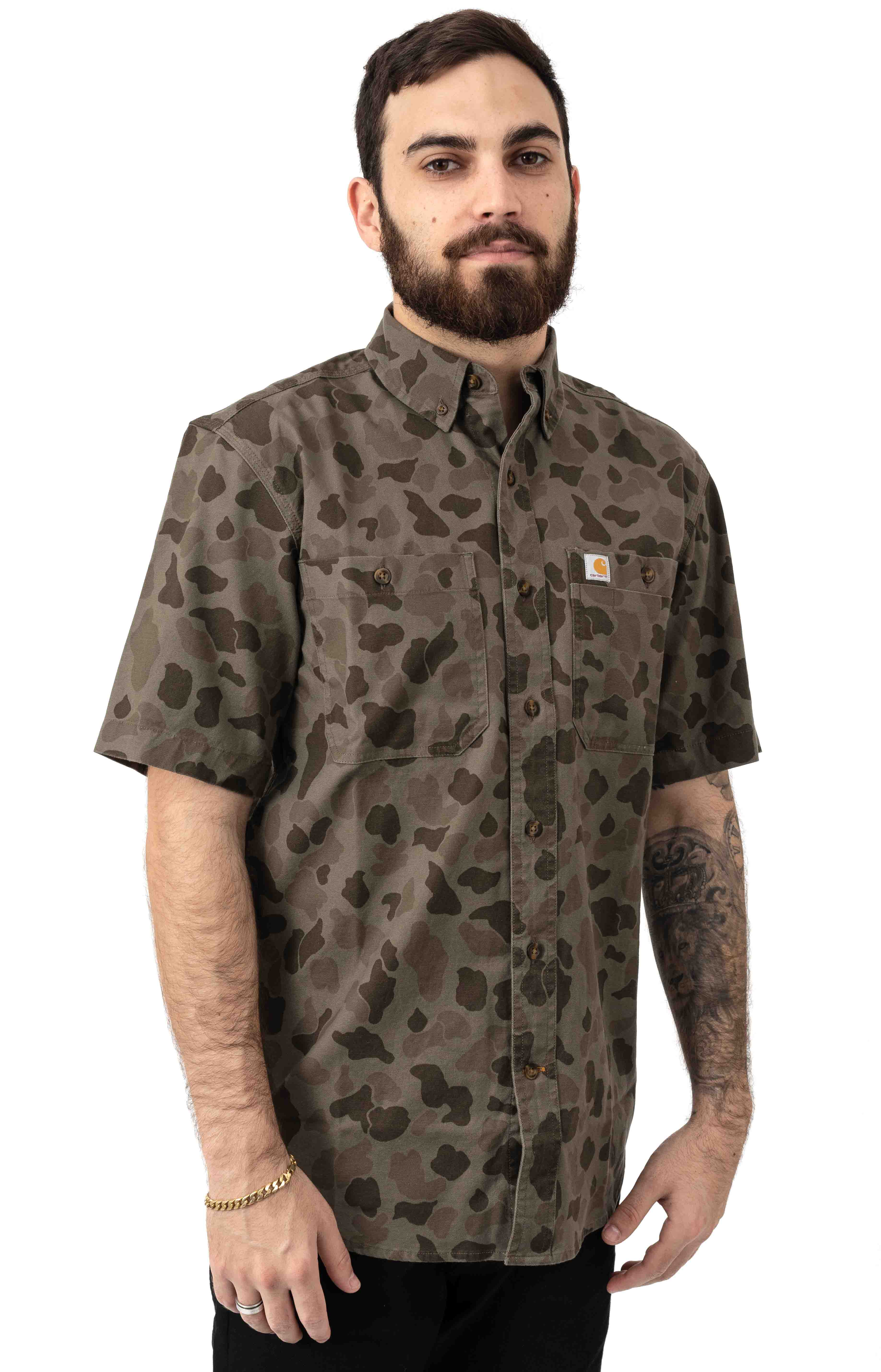 (103555) Rugged Flex Rigby S/S Work Shirt - Tarmac/Duck Camo  2