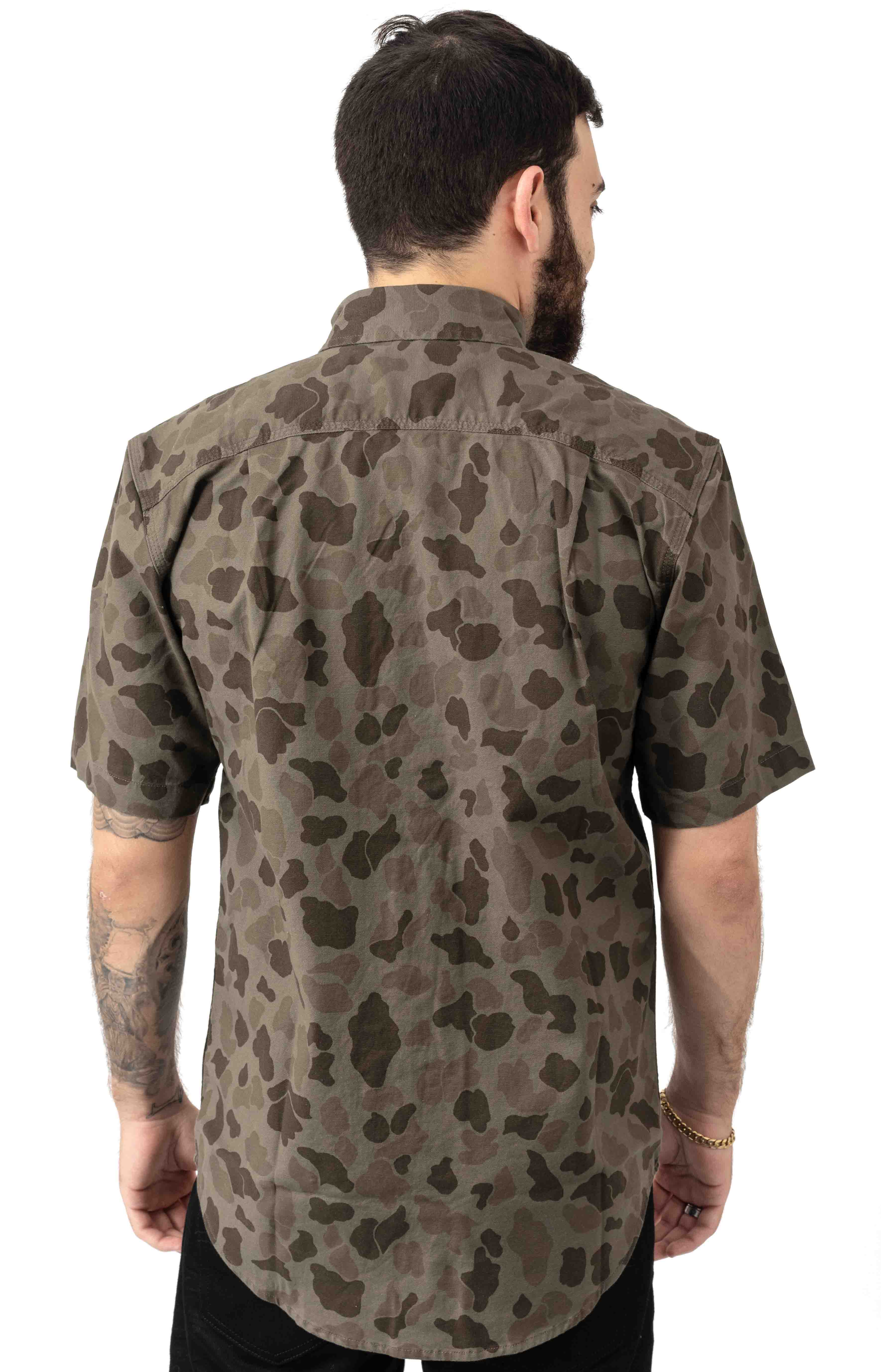(103555) Rugged Flex Rigby S/S Work Shirt - Tarmac/Duck Camo  3