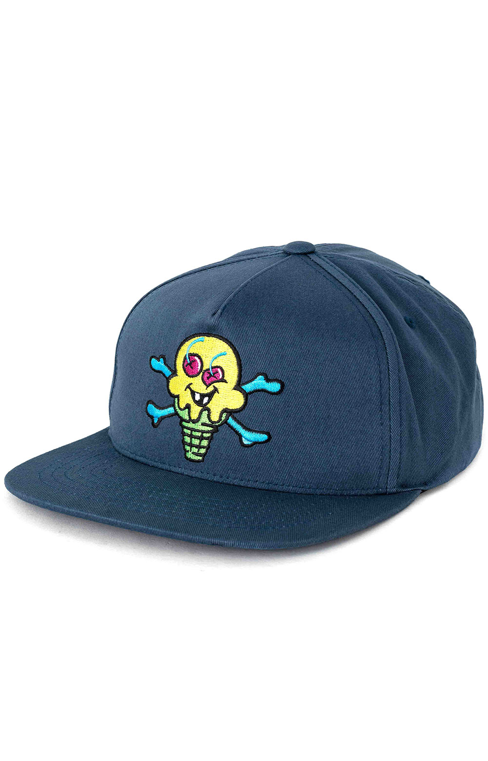 Green Cone Snap-Back Hat - Midnight