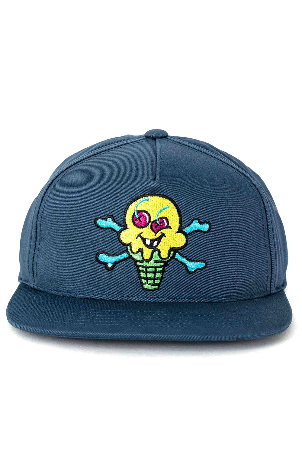 Green Cone Snap-Back Hat - Midnight  2