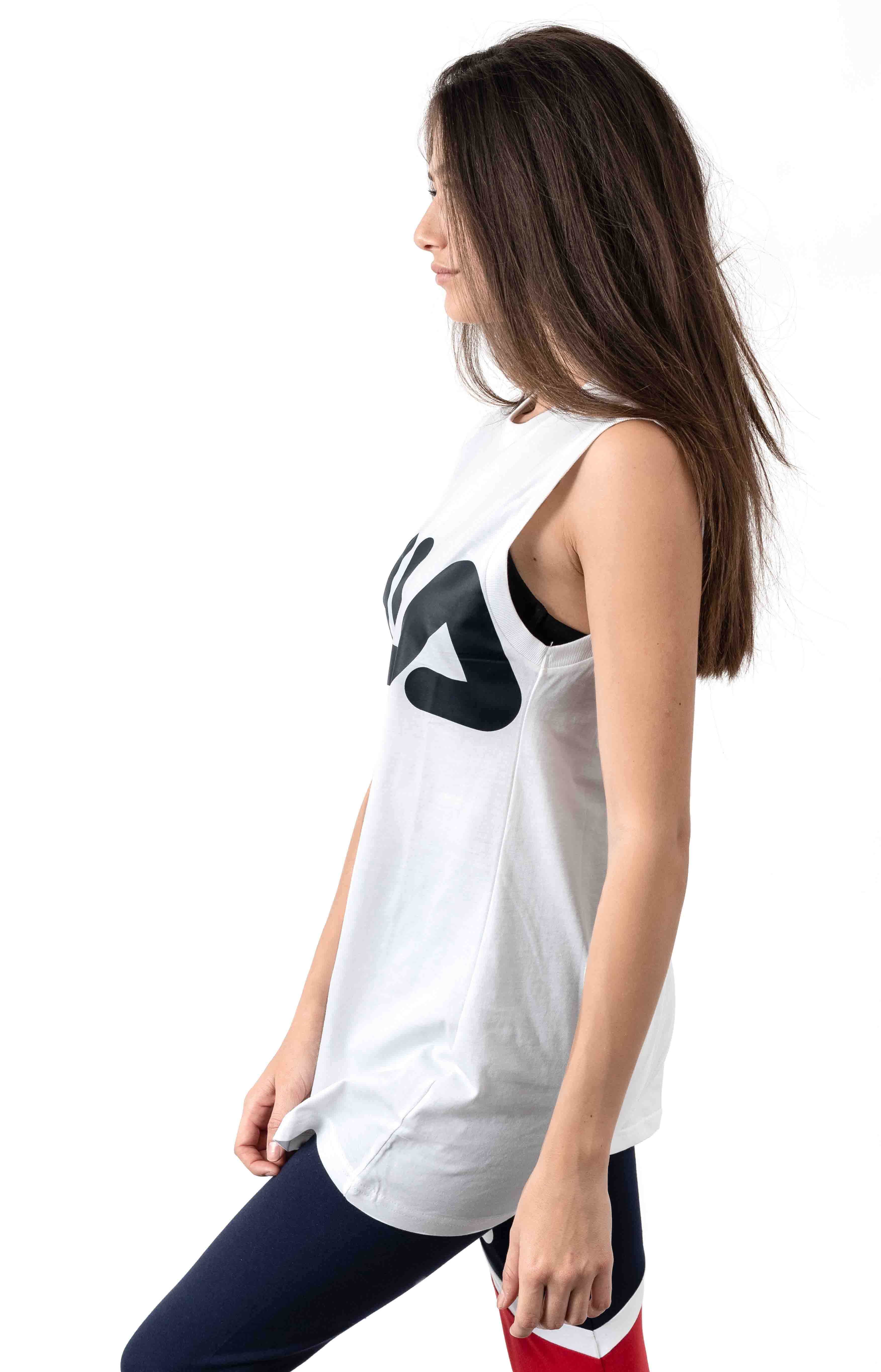Sesto Sleeveless Tee - White 2