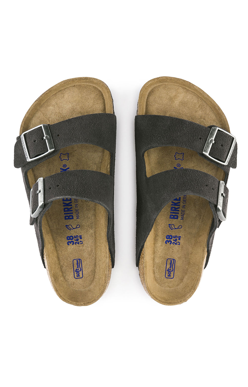 (0552321) Arizona Sandals - Velvet Grey  2