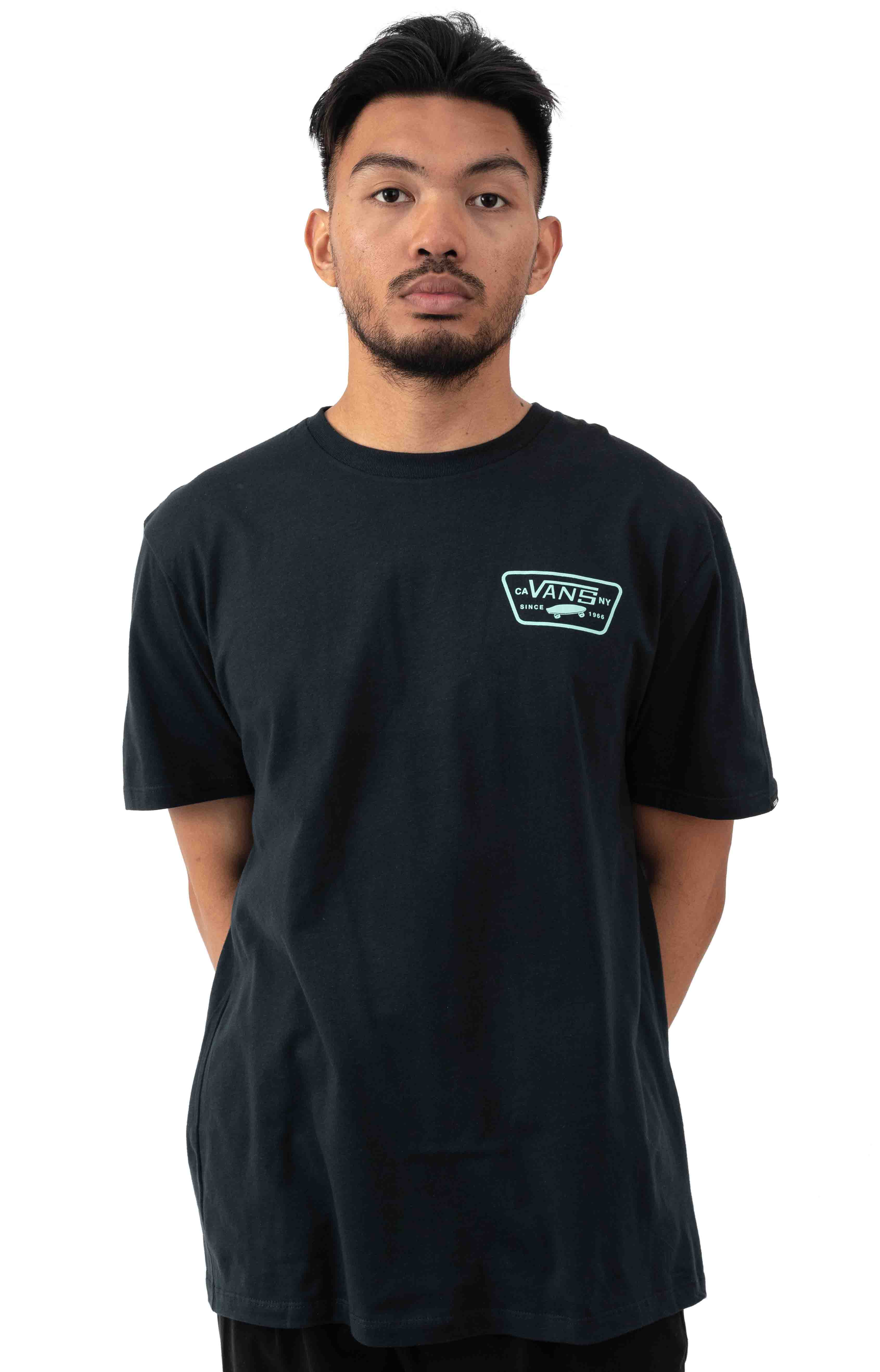 Full Patch Back T-Shirt - Black/Dusty Jade  2
