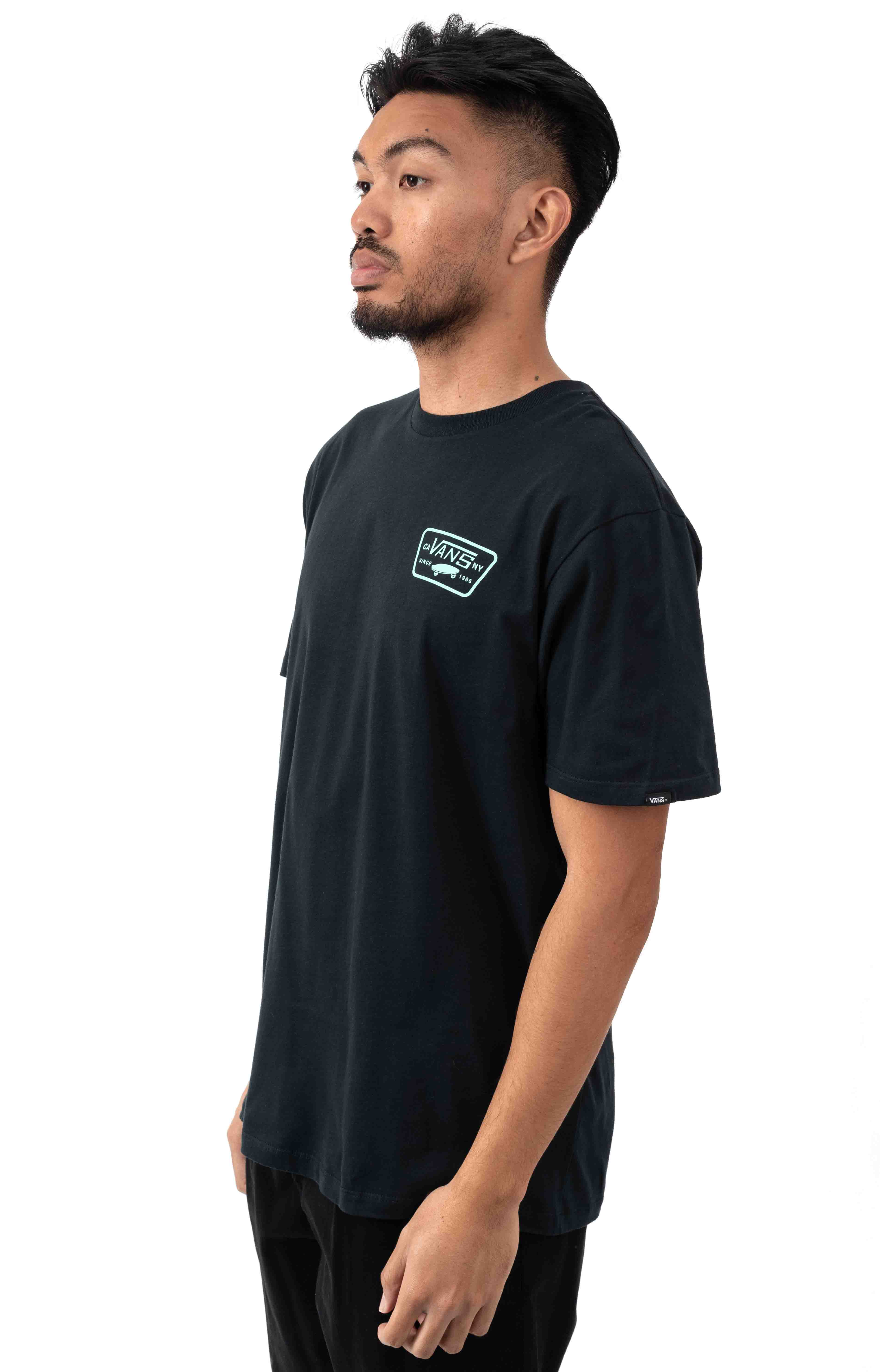 Full Patch Back T-Shirt - Black/Dusty Jade  3