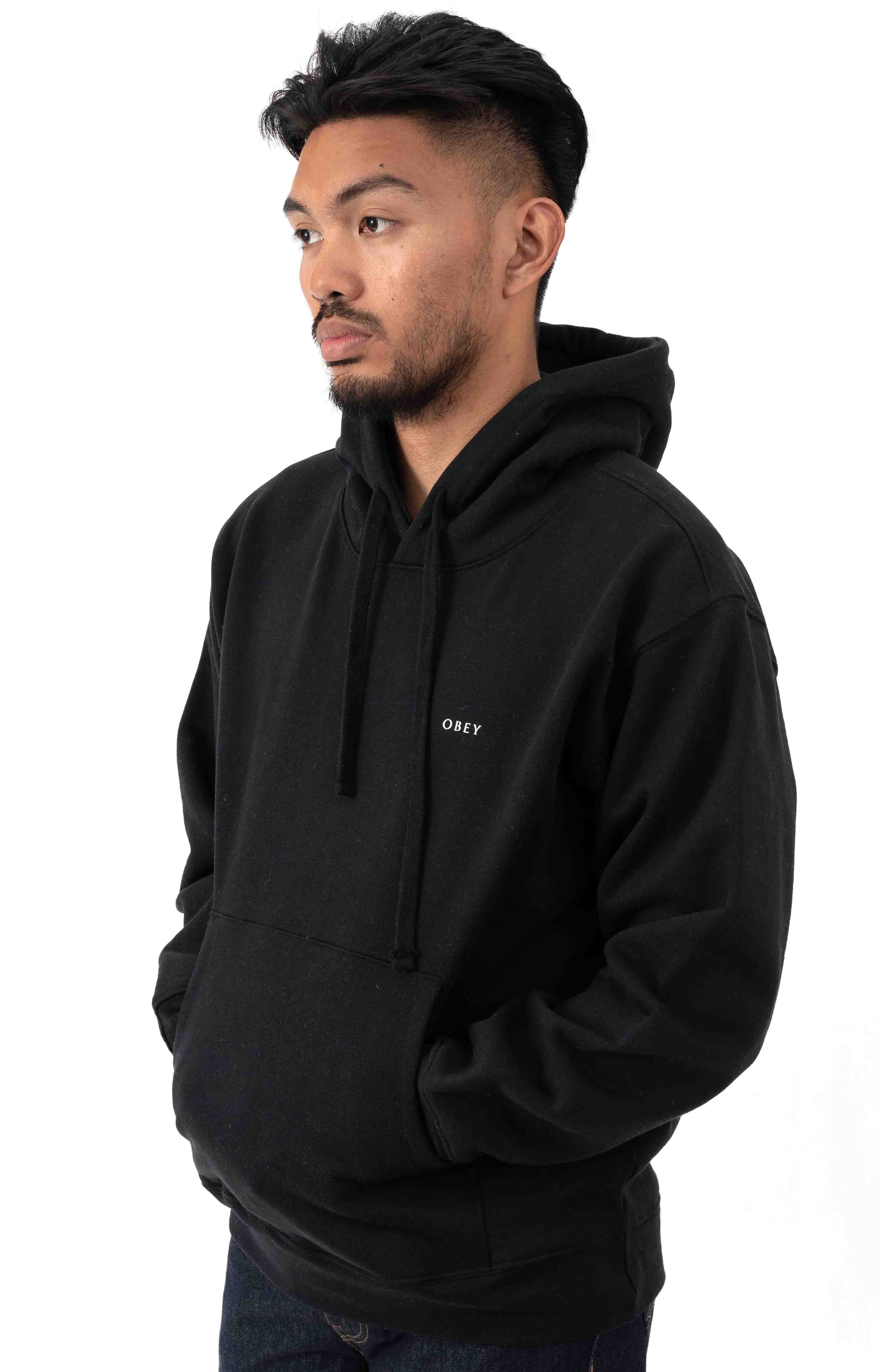 3 Face Collage Pullover Hoodie - Black 3