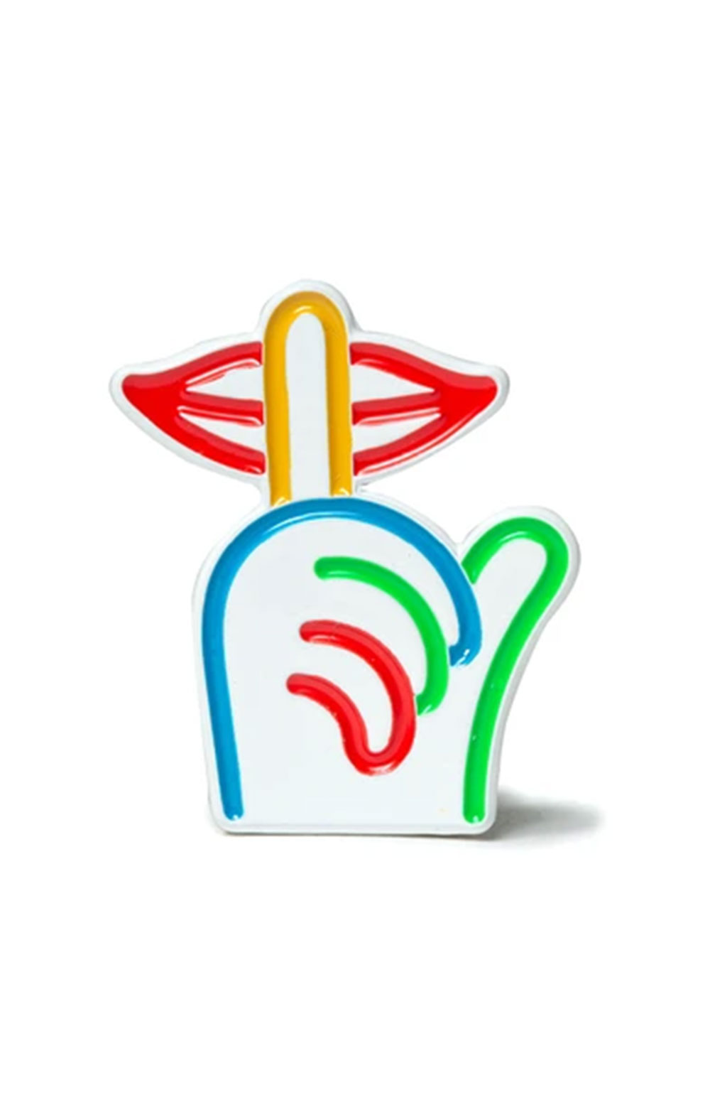 Rainbow Shhh Lapel Pin  1