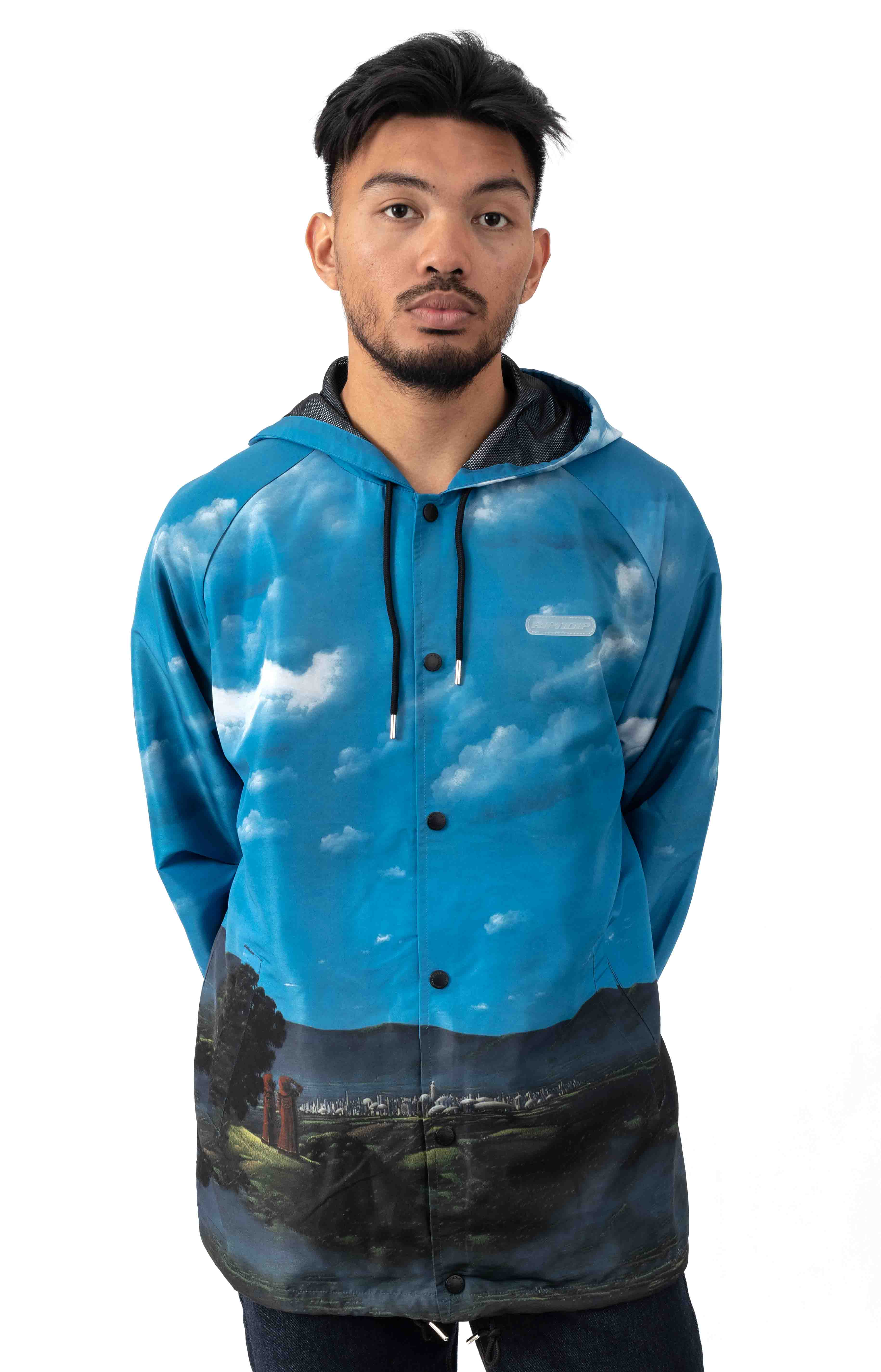 Hold Me Hooded Coach Jacket - Navy